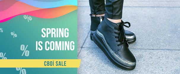 Розпродаж нової колекції стильного шкіряного взуття Made in UA