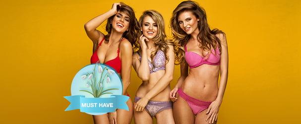 Великий вибір стильної спідньої білизни популярного бренду