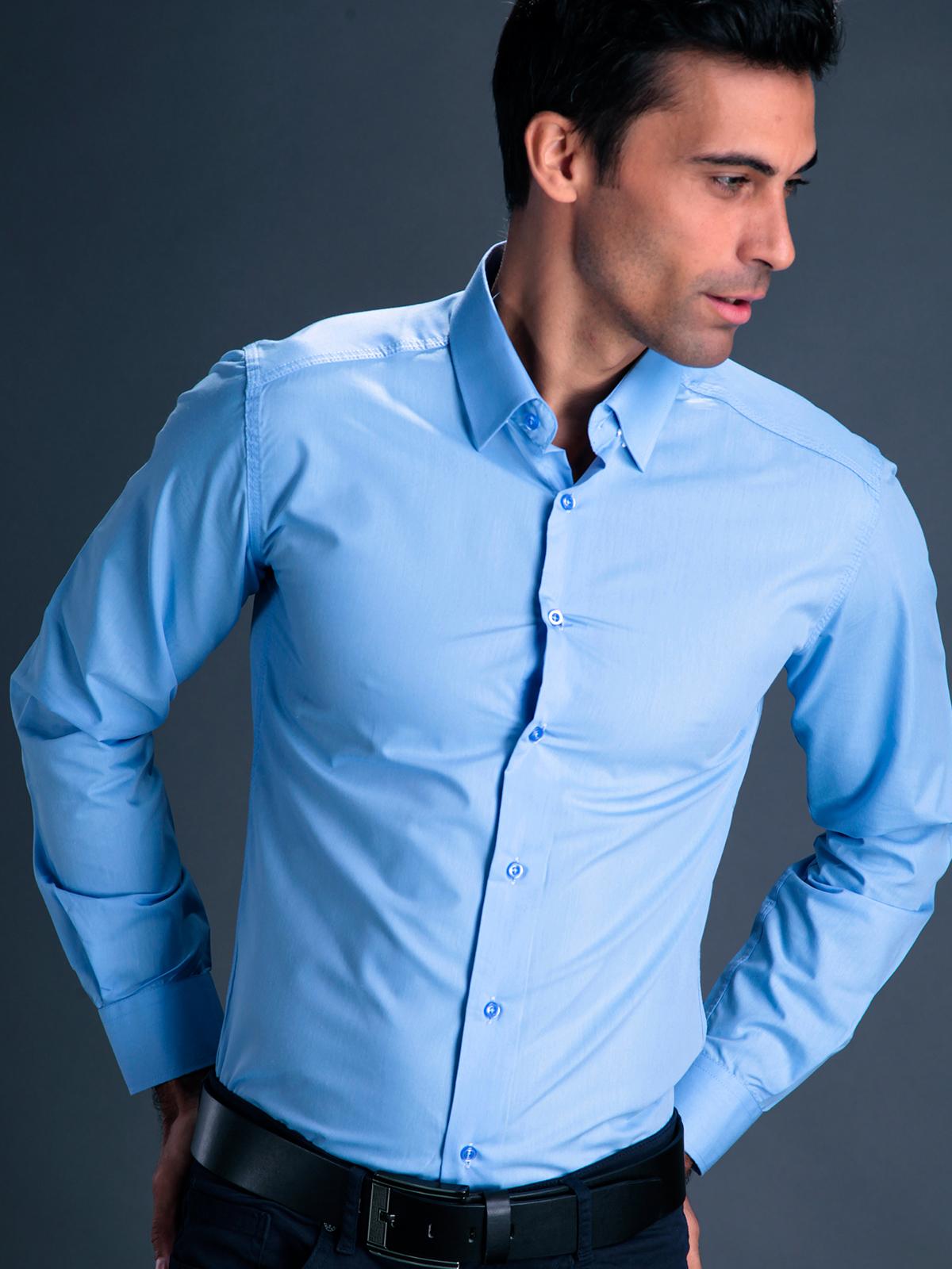 голубая рубашка купить