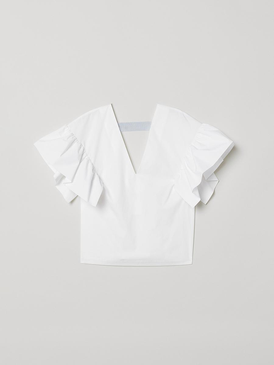 Топ белый — H&M, акция действует до 5 декабря 2020 года  | LeBoutique — Коллекция брендовых вещей от H&M — 5046691