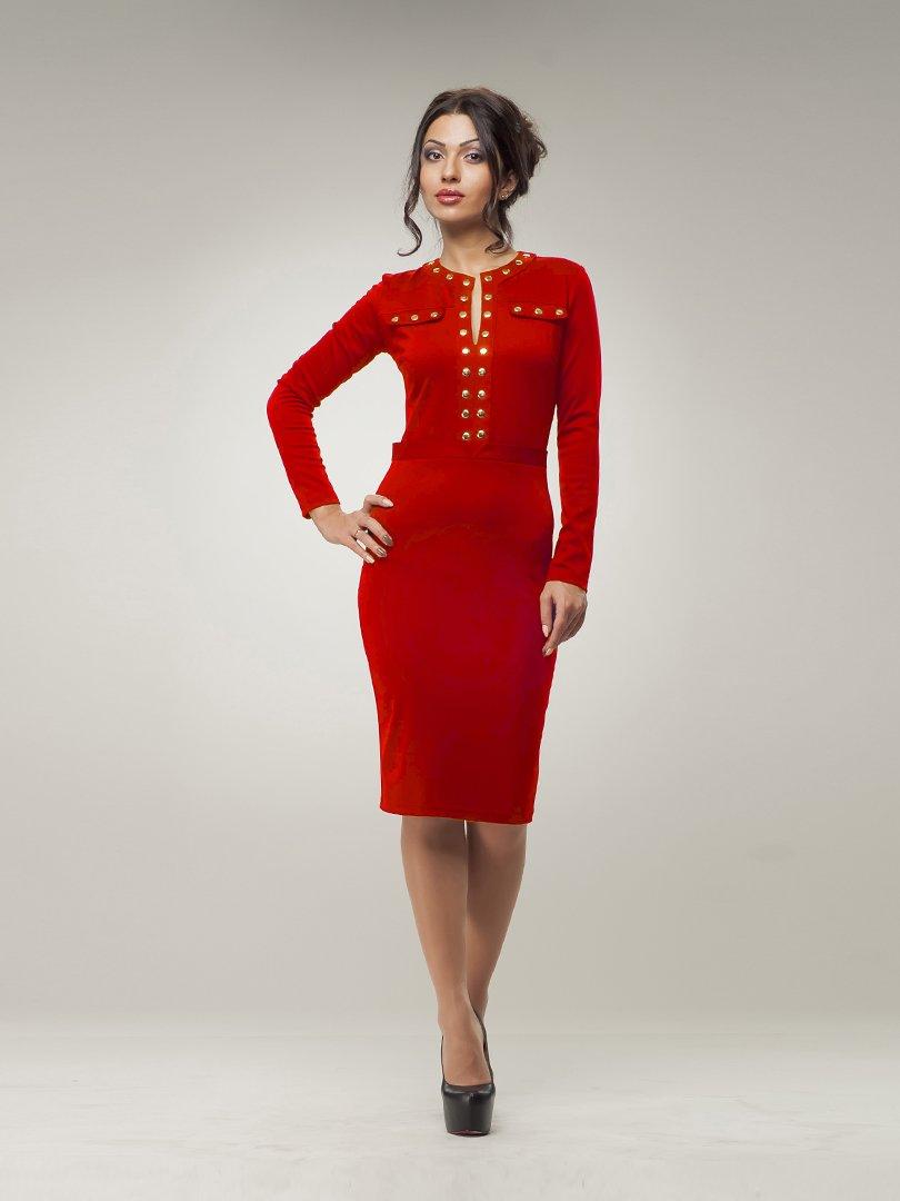 Платье красное | 894266