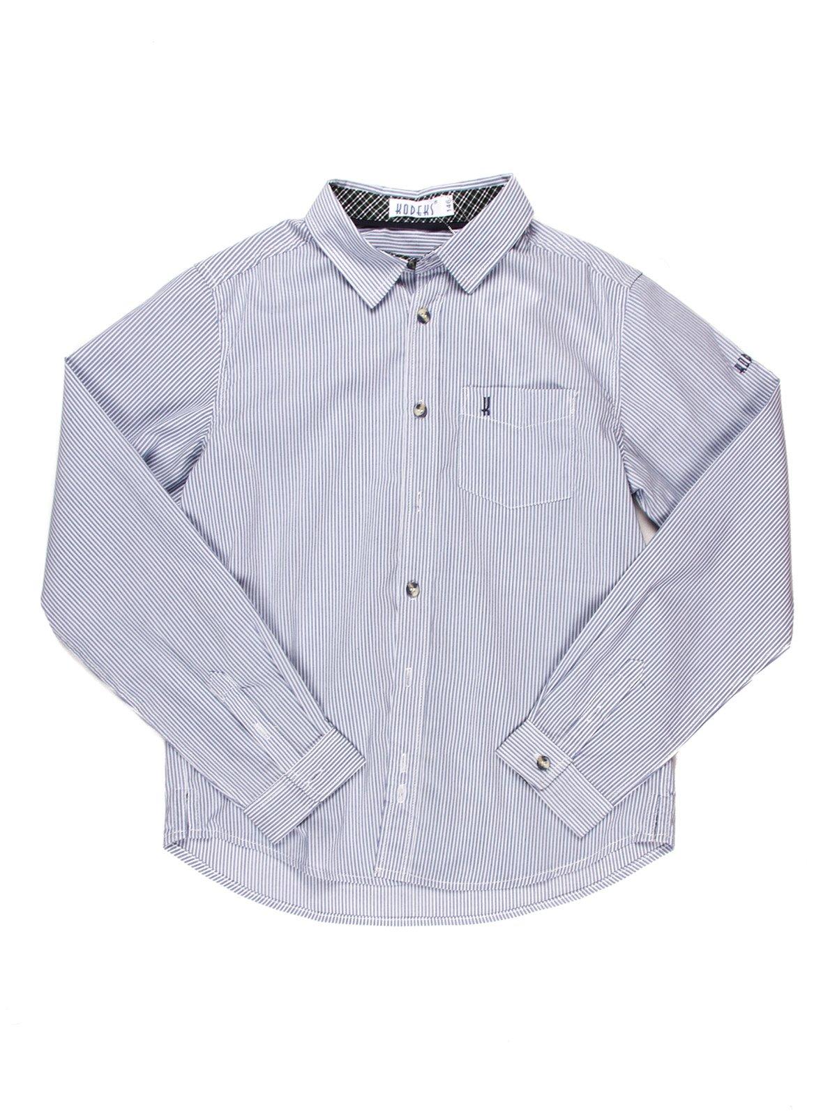 Рубашка бело-голубая в полоску | 903323