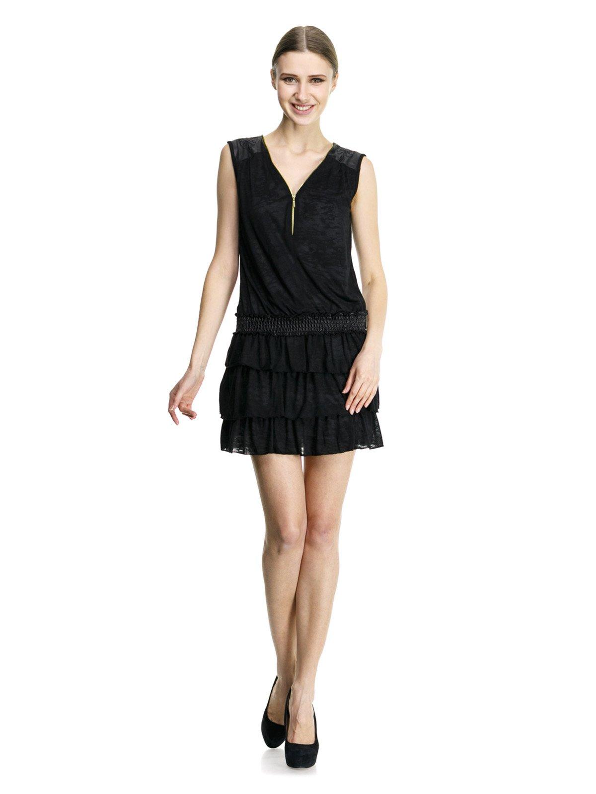Сукня чорна з оборками | 913494