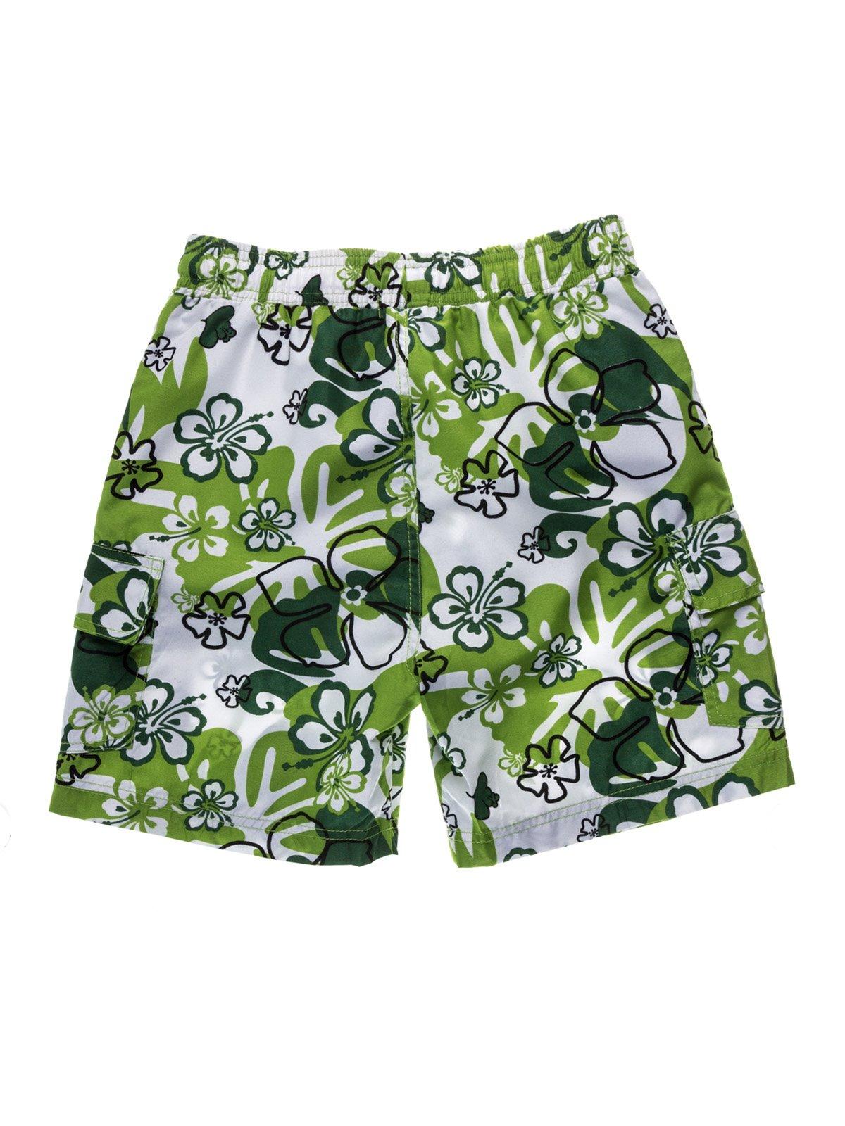 Шорти біло-зелені принт пляжно-купальні   933689   фото 2
