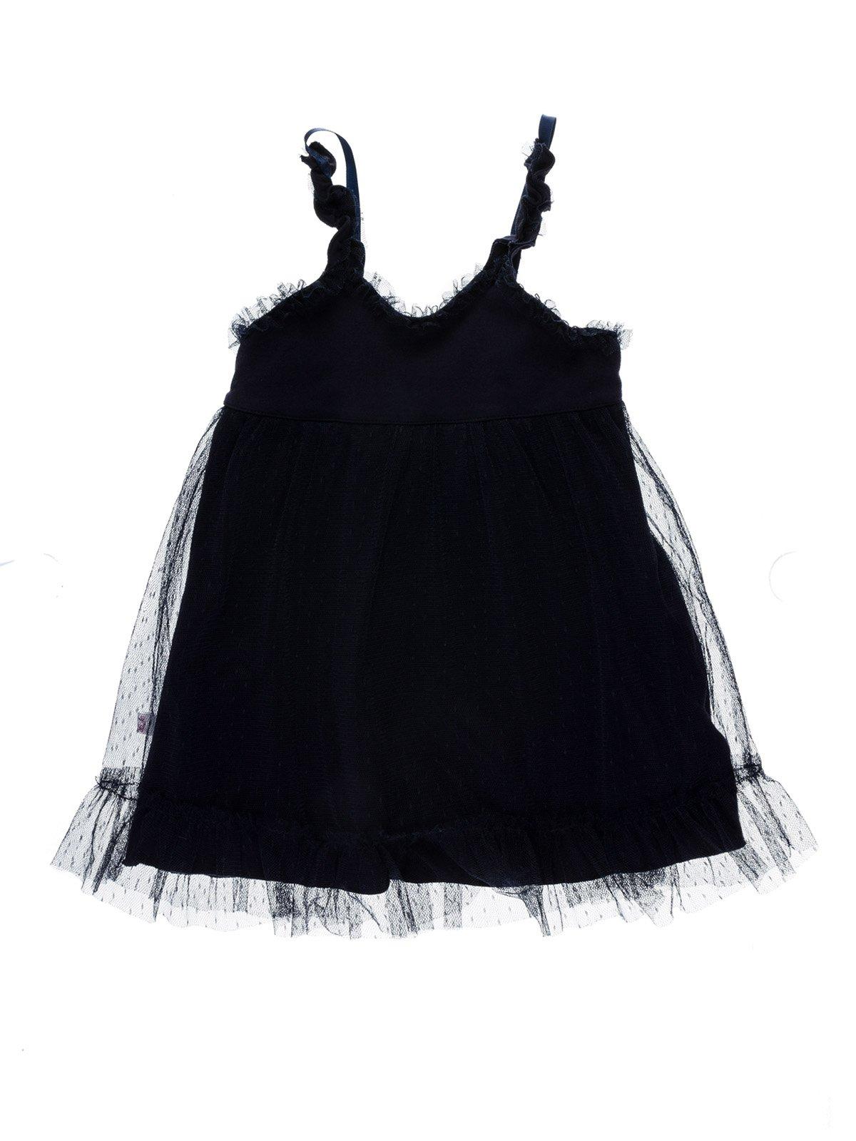 Платье темно-синее комбинированное | 933740