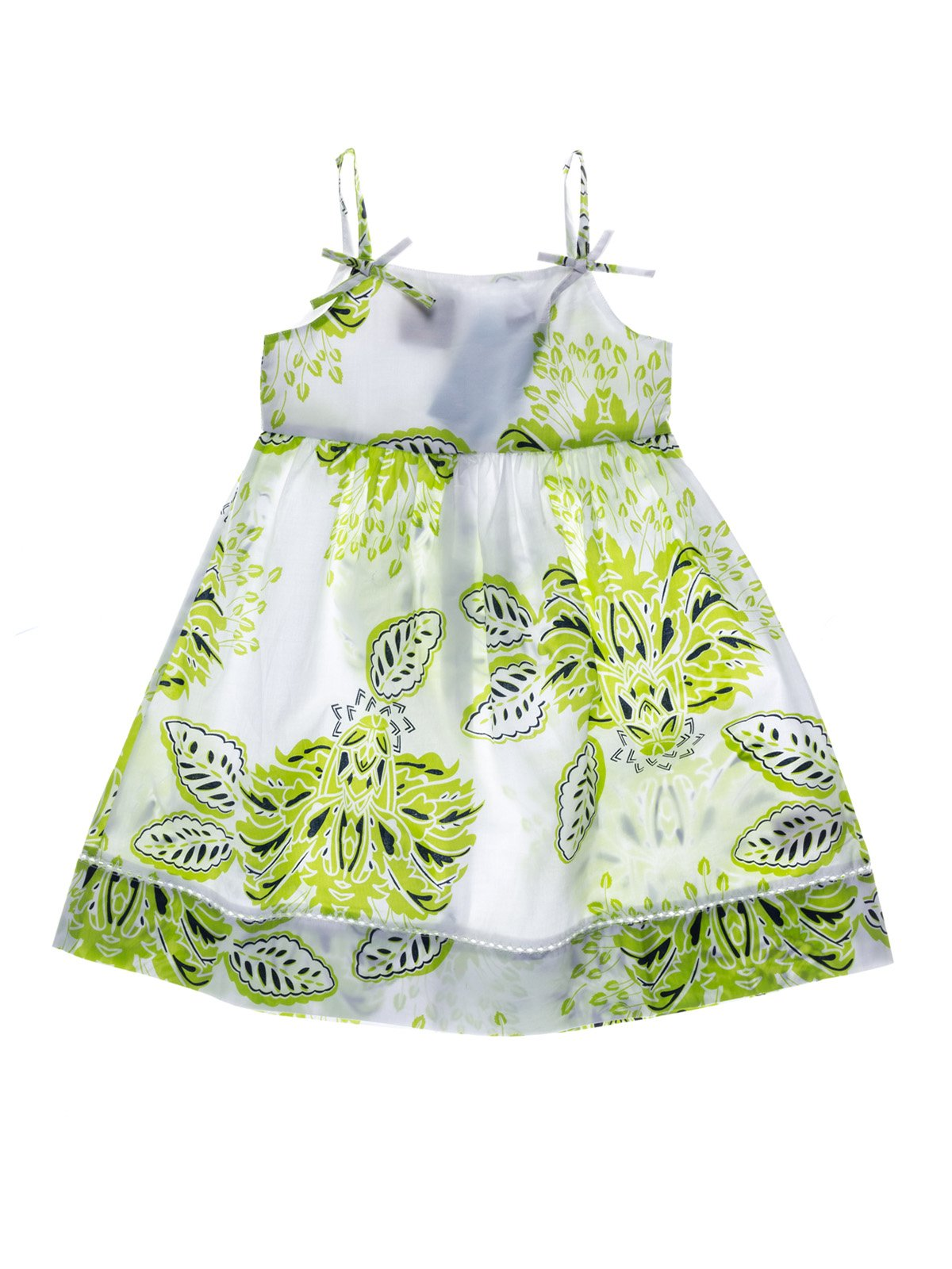 Платье белое в принт | 933658