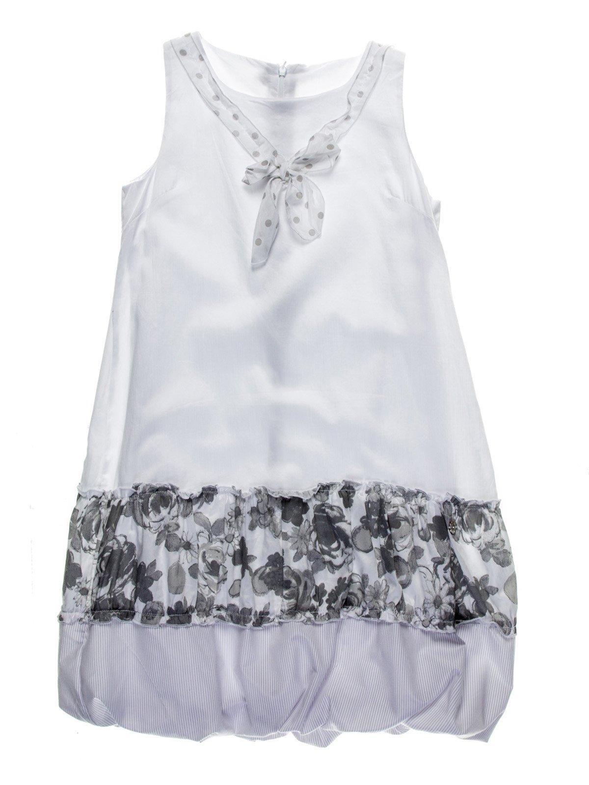 Сукня біла з квітковим принтом | 958865