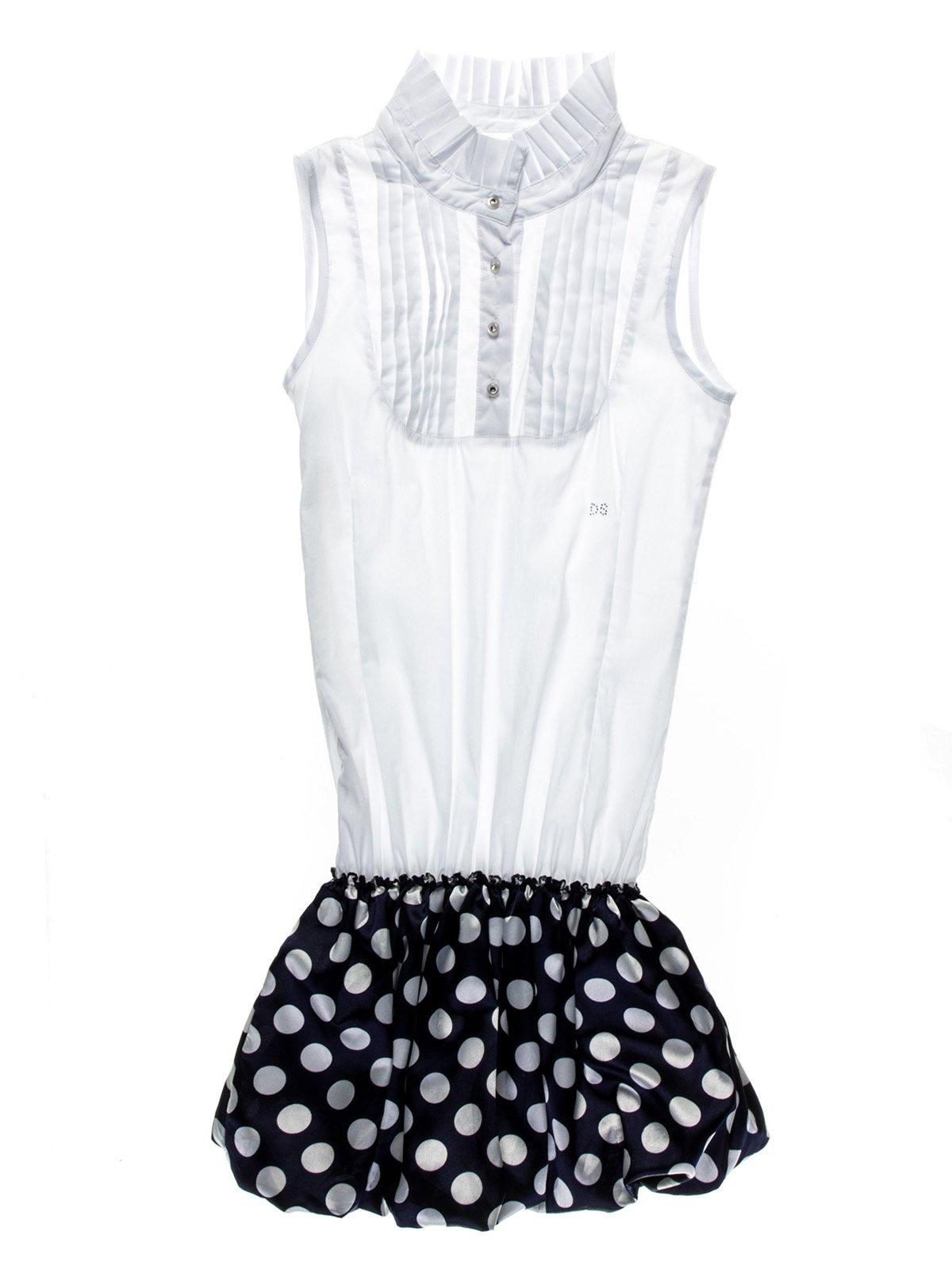 Сукня двоколірна в горох | 959024