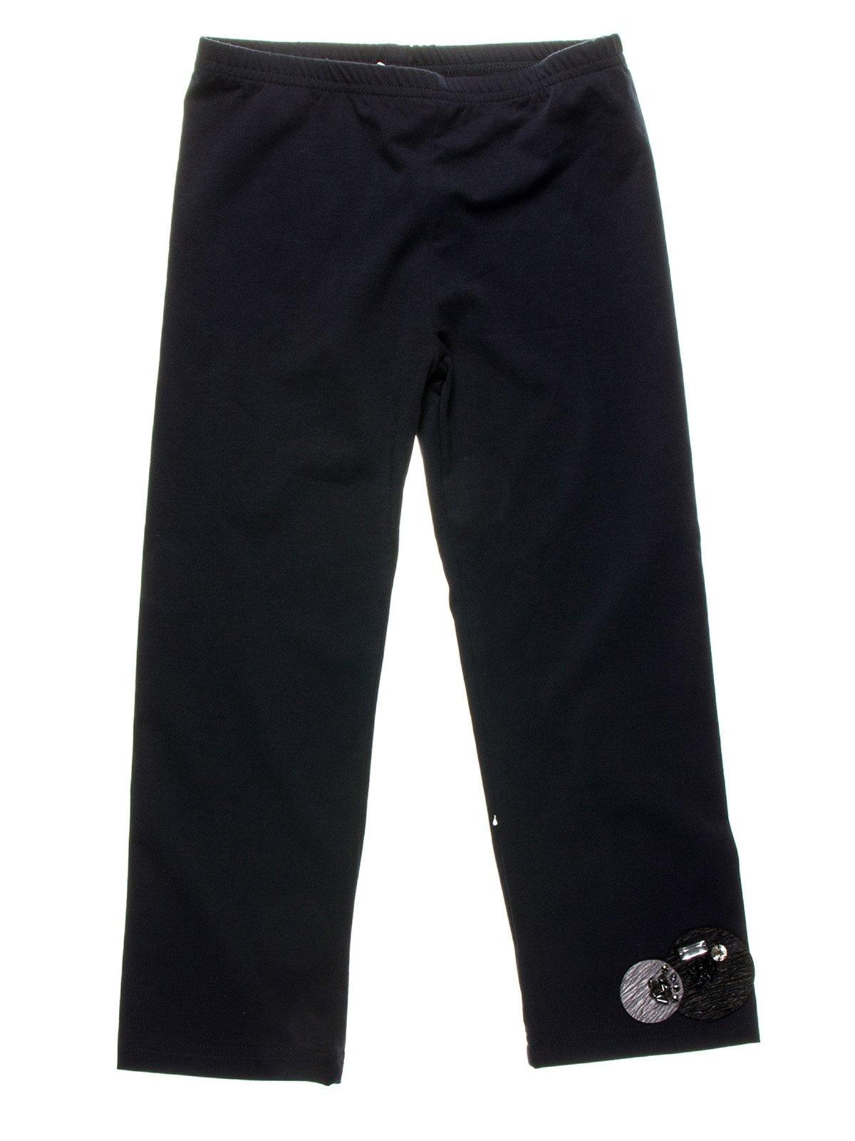 Легінси темно-сині з декором | 958975