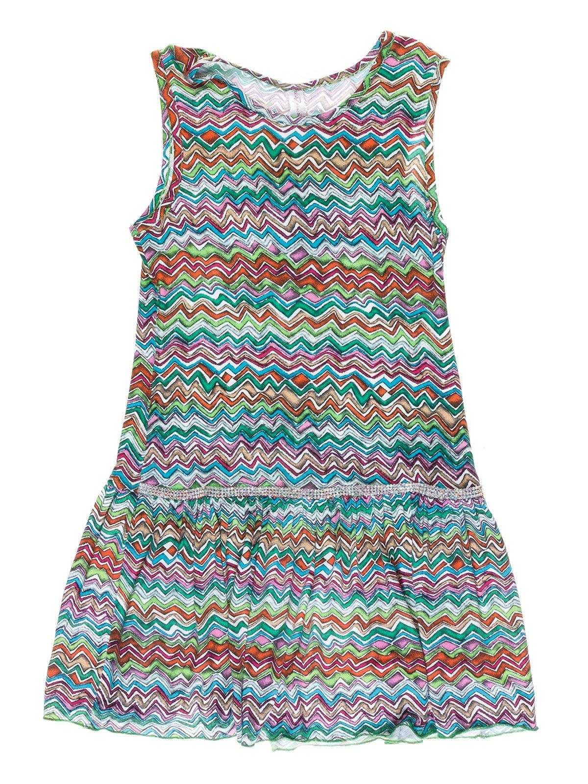 Платье разноцветное в зигзагообразную полоску   973713