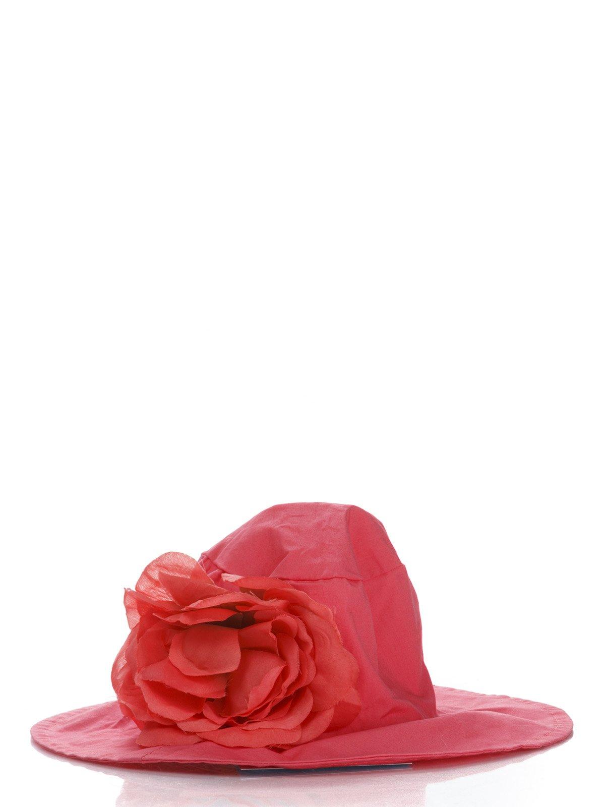 Панамка коралловая с цветком | 987142