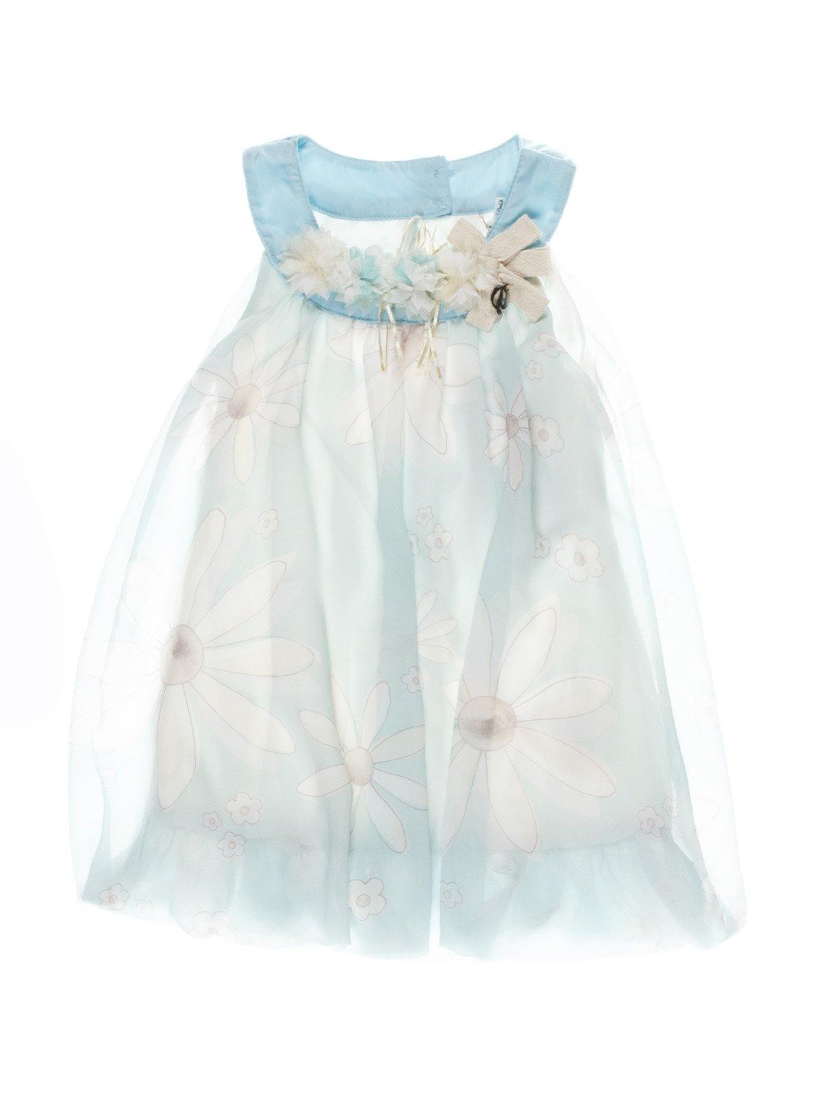 Сукня блакитна з квітковим принтом   987236
