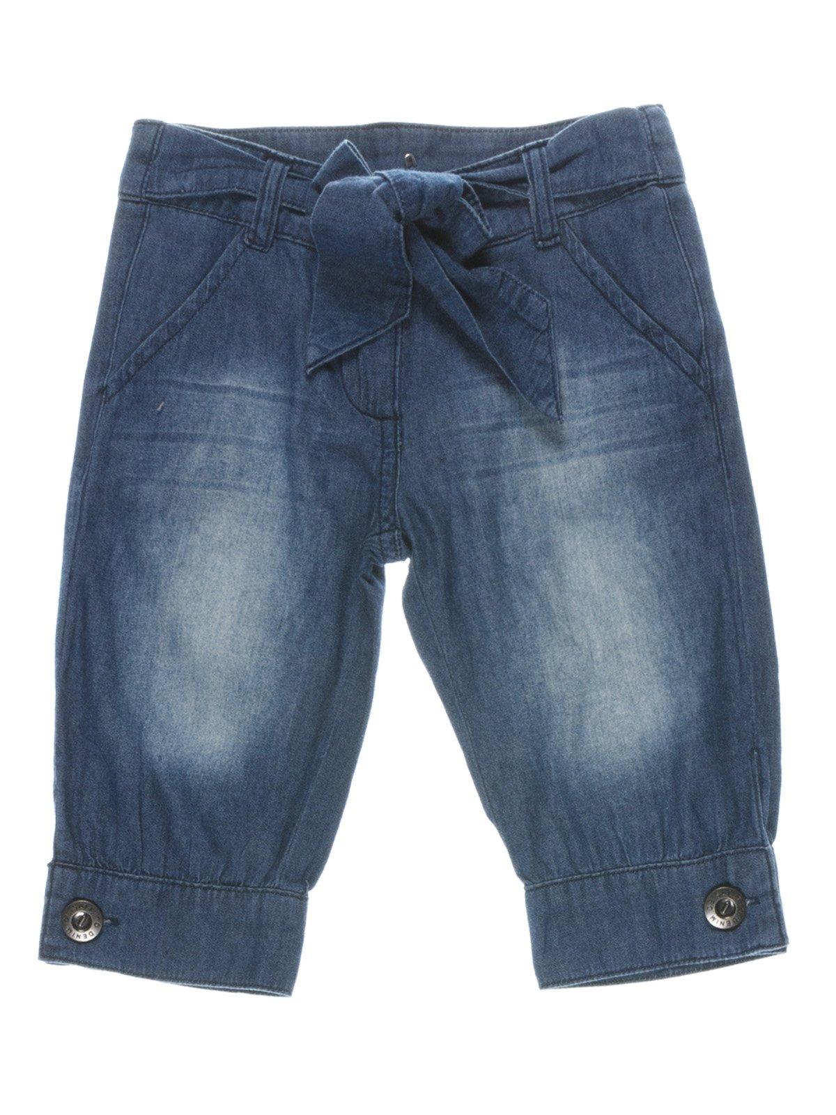 Капрі джинсові з манжетами | 987232
