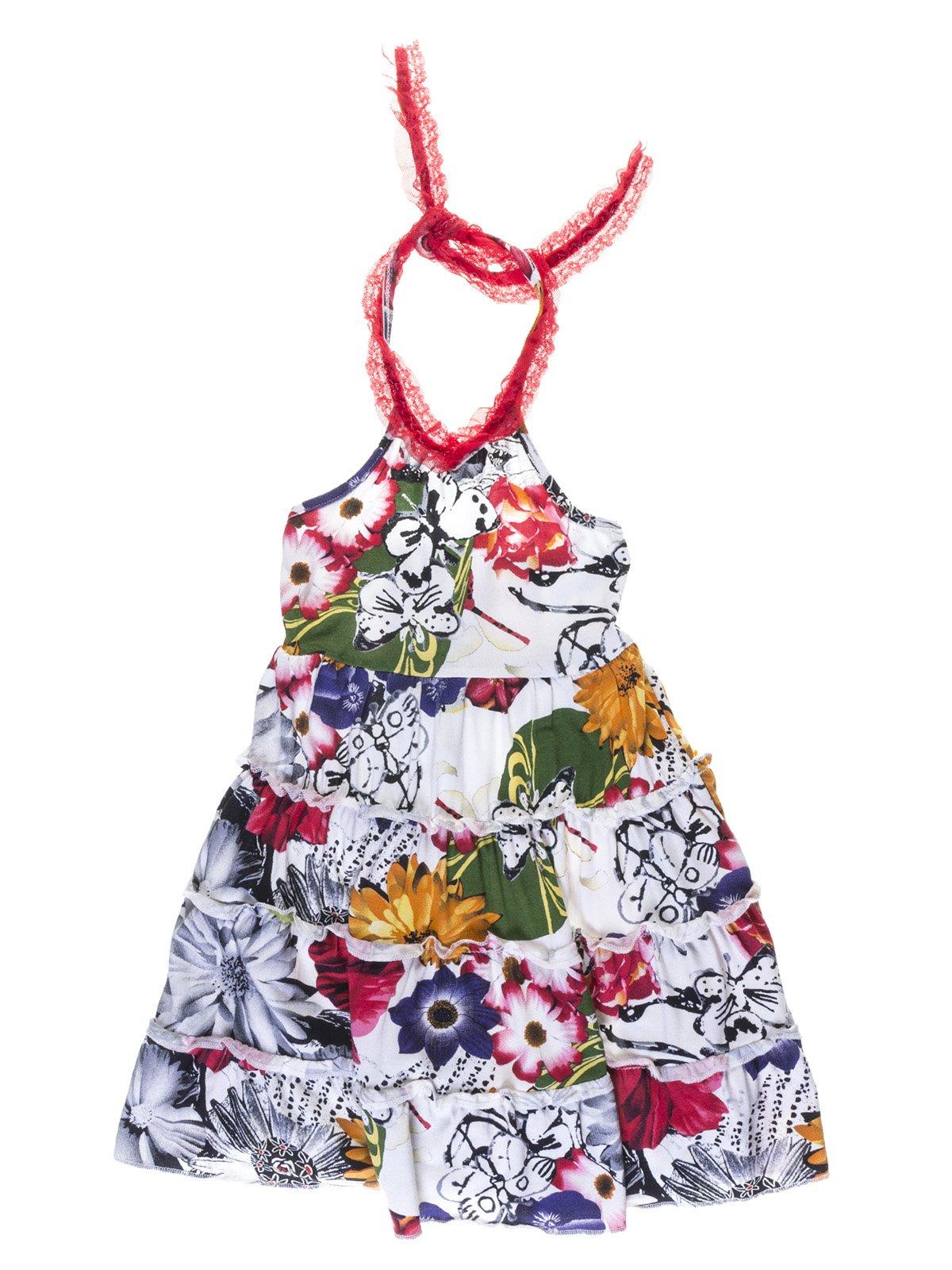 Сукня яскравого забарвлення з відкритою спинкою | 1001718
