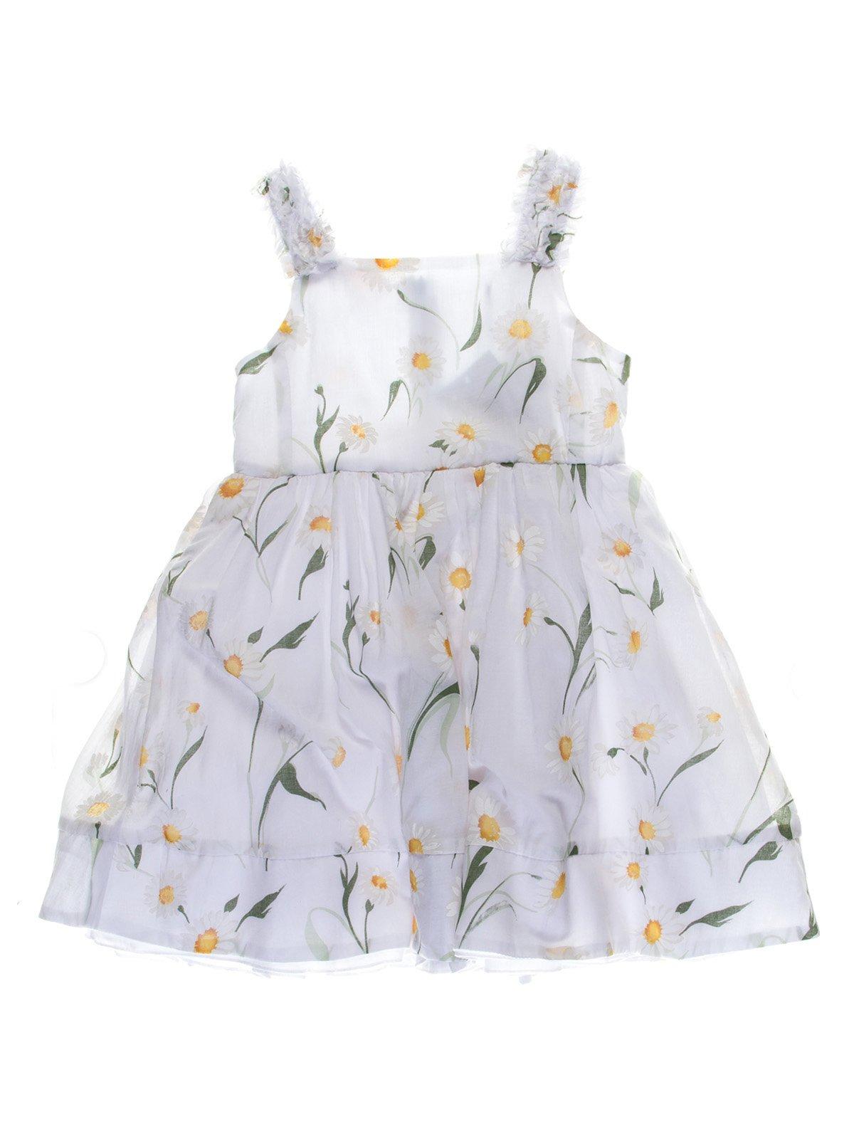 Сукня біла в квітковий принт | 1039046