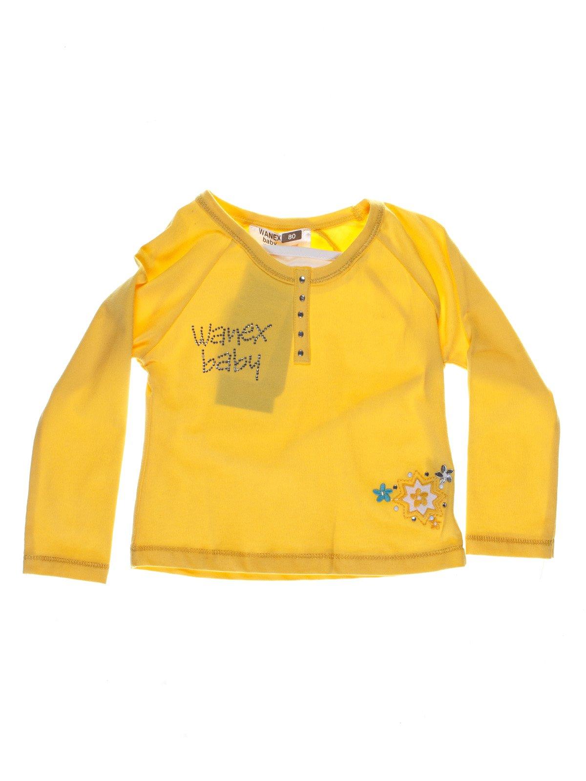Реглан жовтий з вишивкою | 1051438