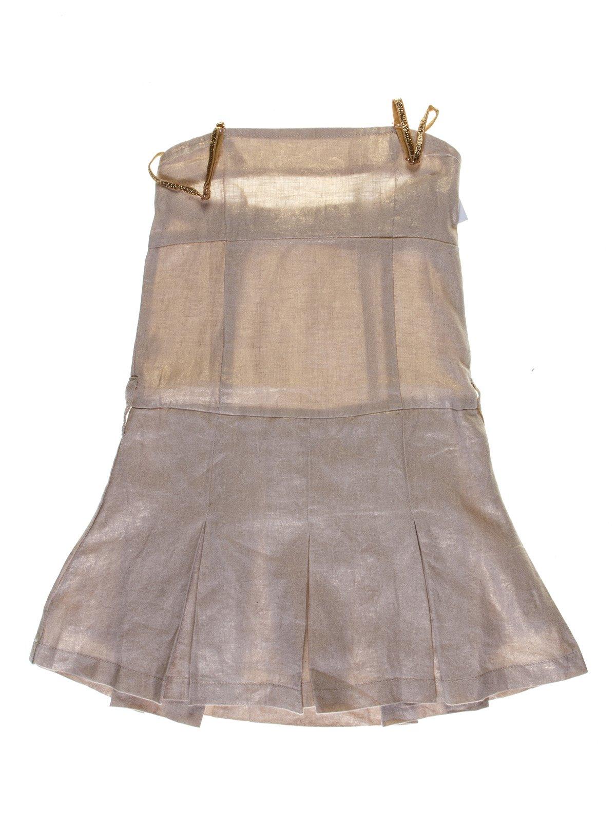 Сукня бежево-золотиста | 1051130