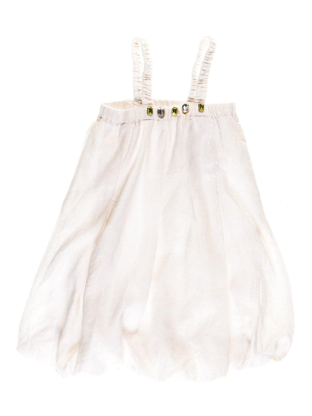 Сукня біло-золотиста з декором   1051135