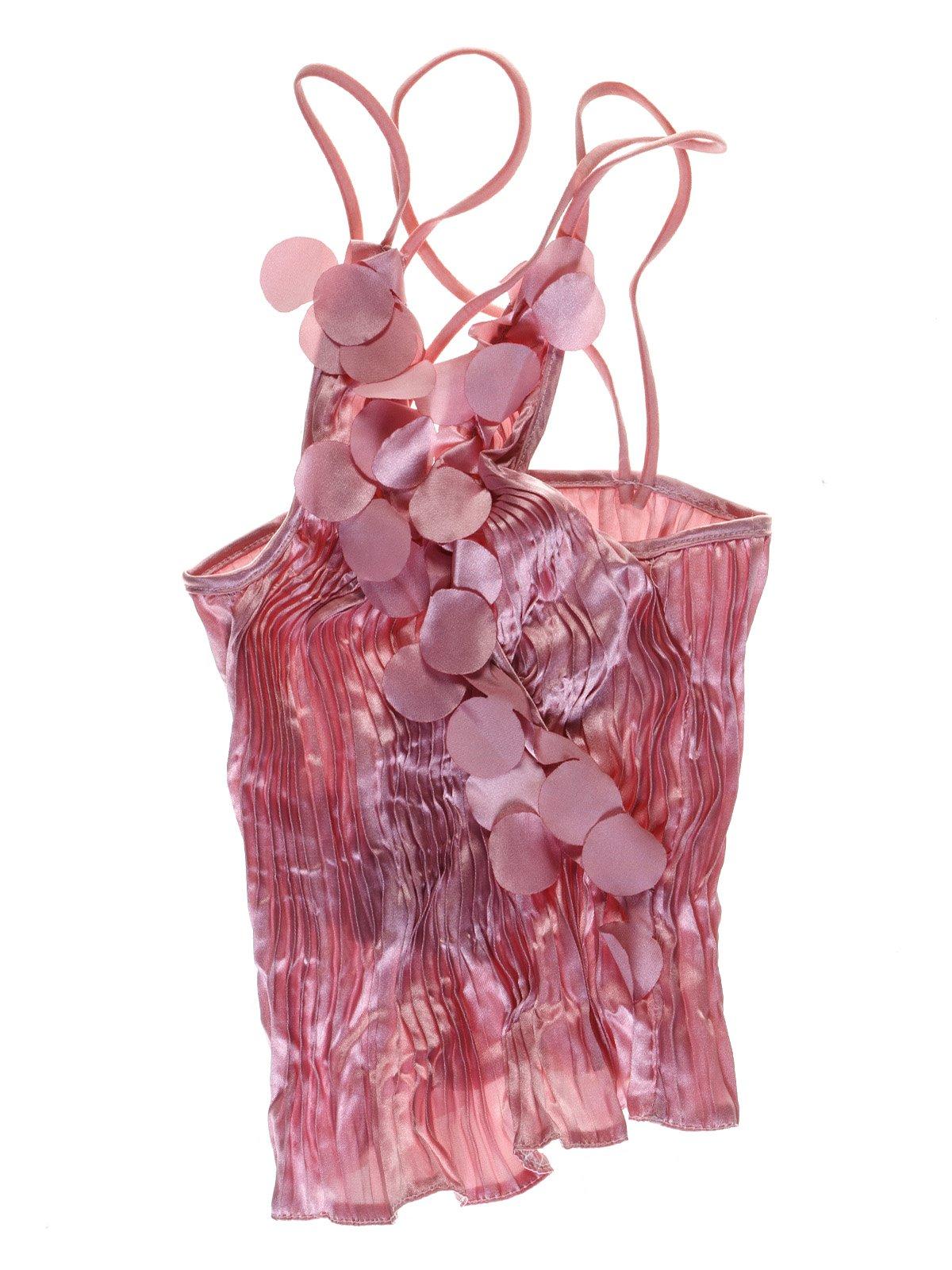 Топ розовый декорированный | 1051343
