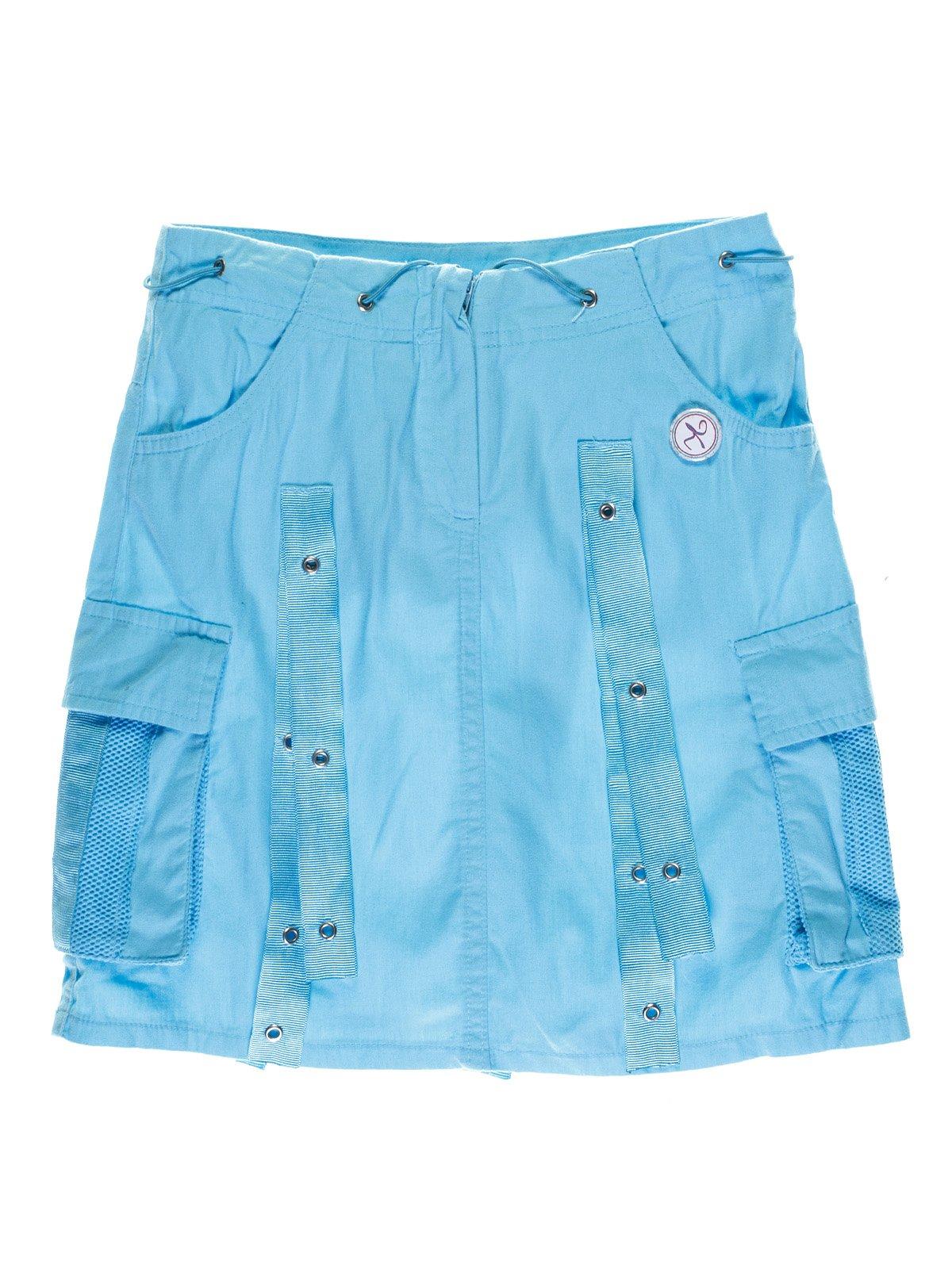 Юбка голубая с вышивкой   1051295