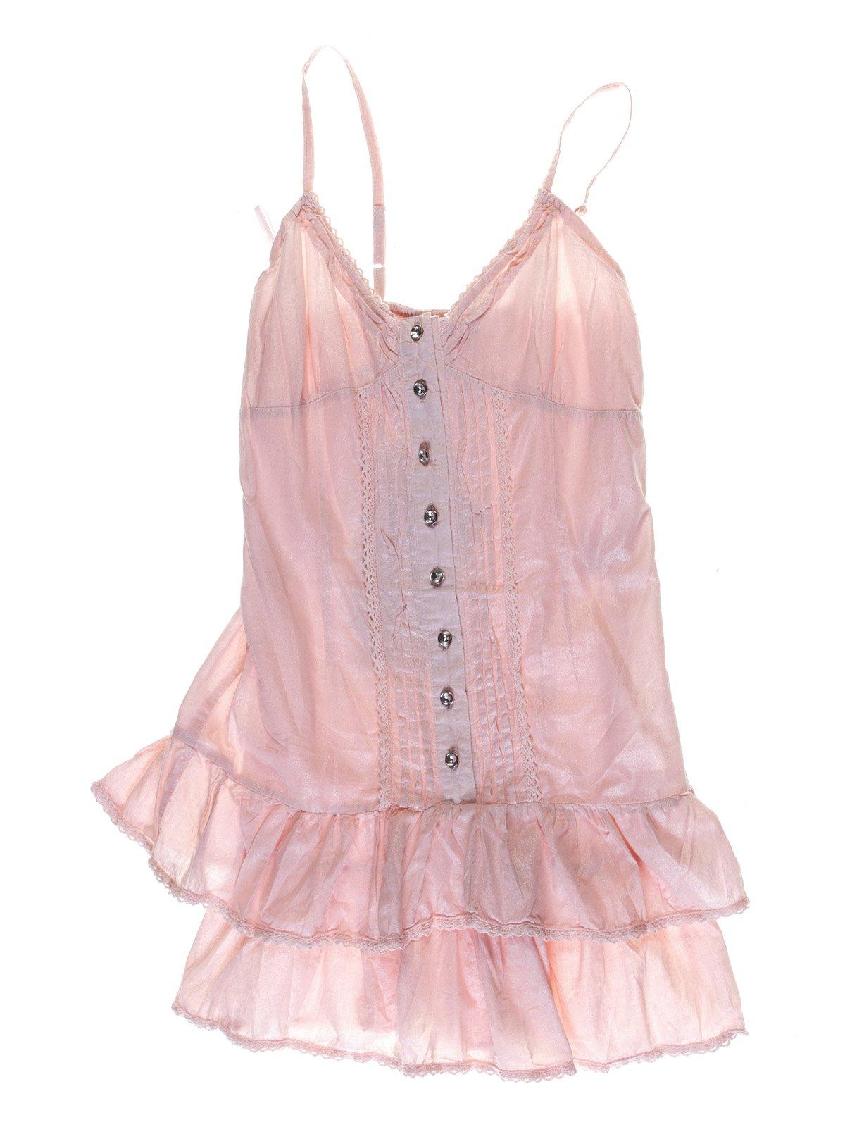 Платье розовое с кружевной отделкой | 1051208