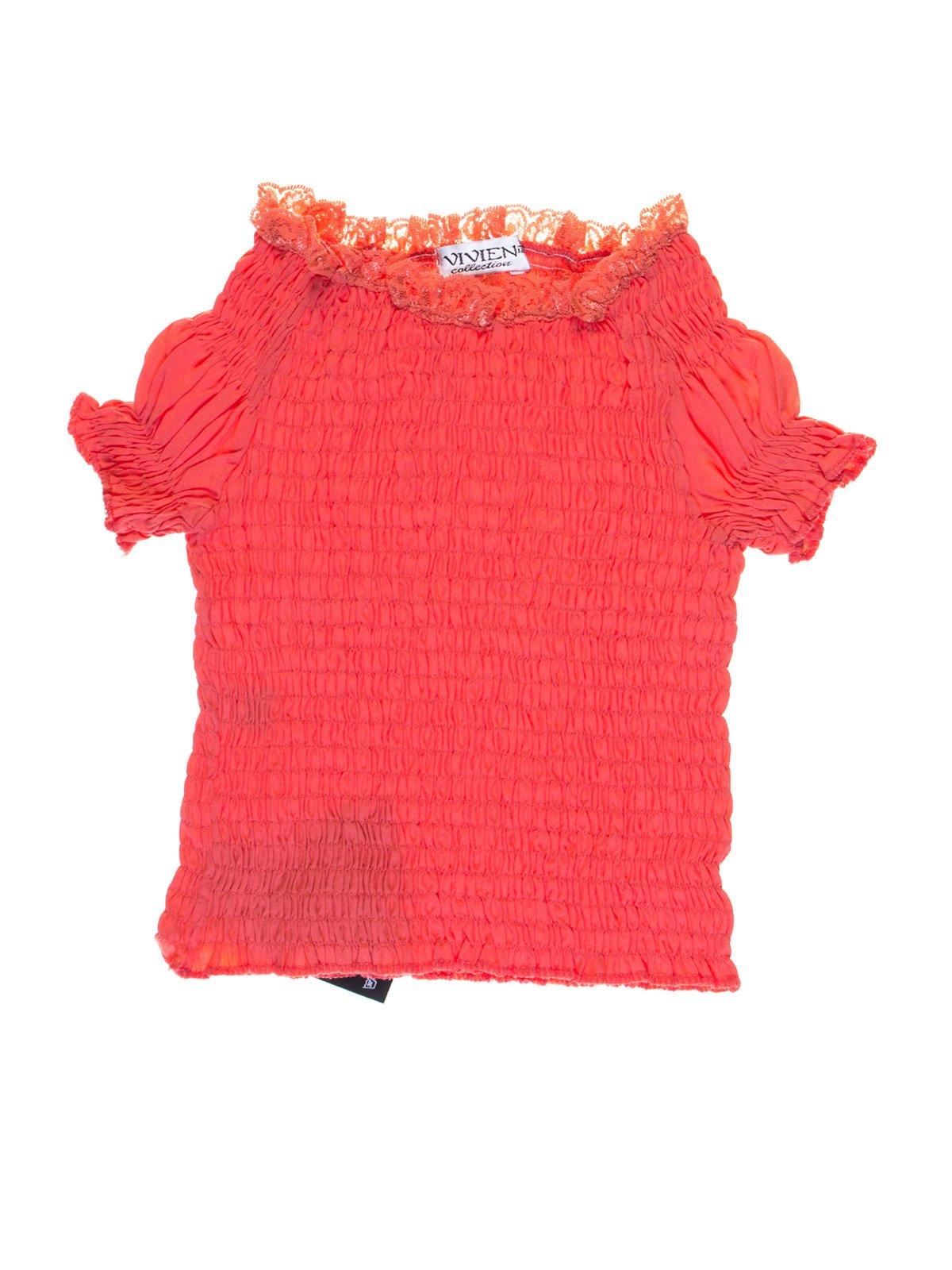 Блуза коралового кольору | 1076747