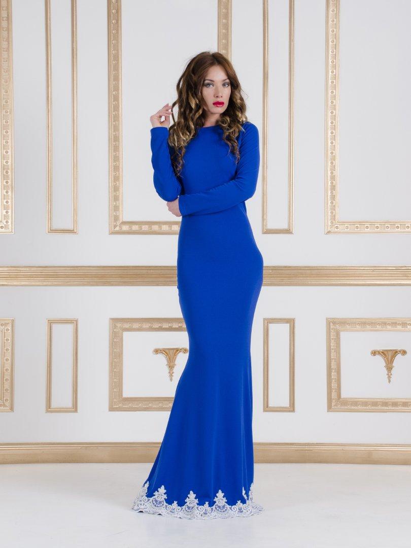 Сукня яскраво-синя | 1079753