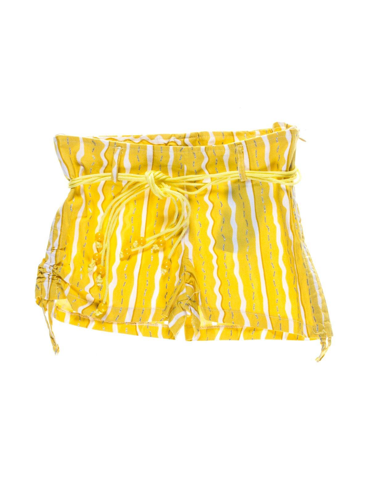 Шорти жовті в смужку | 1076727