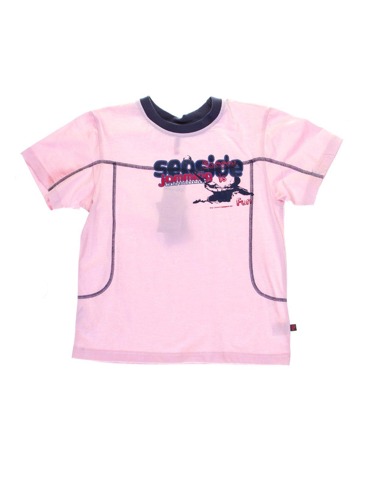 Футболка світло-рожева з принтом | 1076678