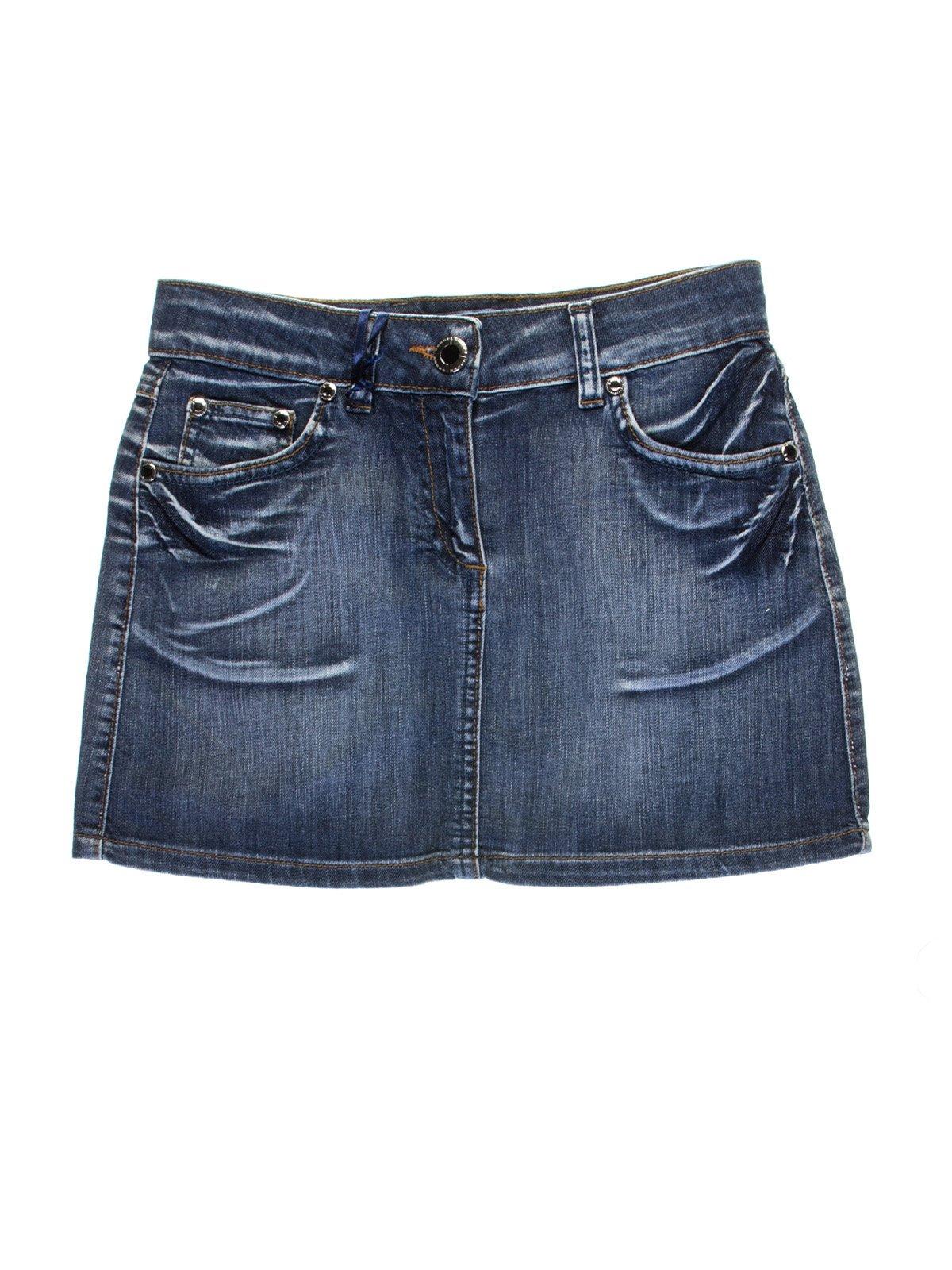 Спідниця синя джинсова | 1076939