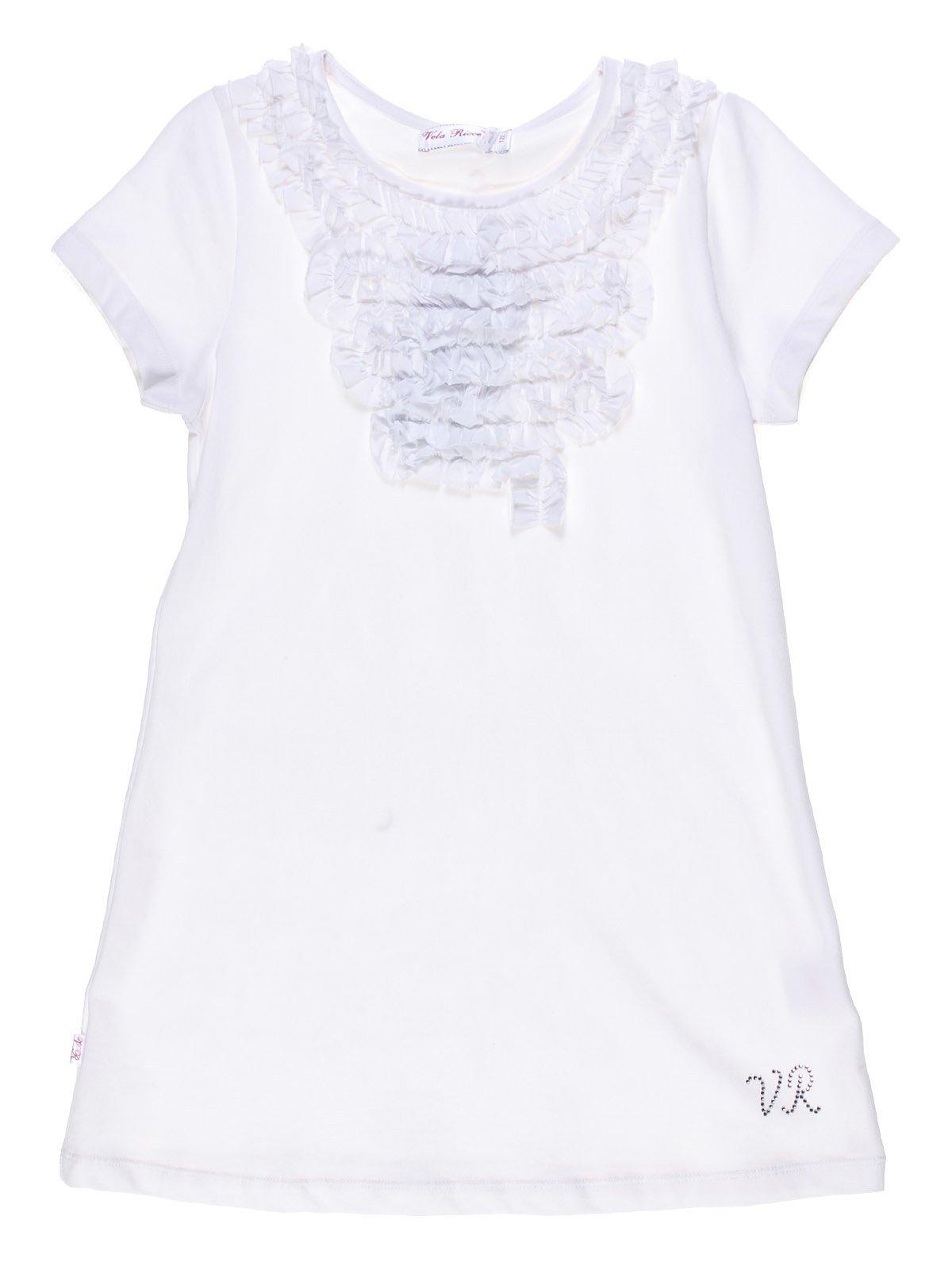 Туника белая со стилизованным жабо | 1121049