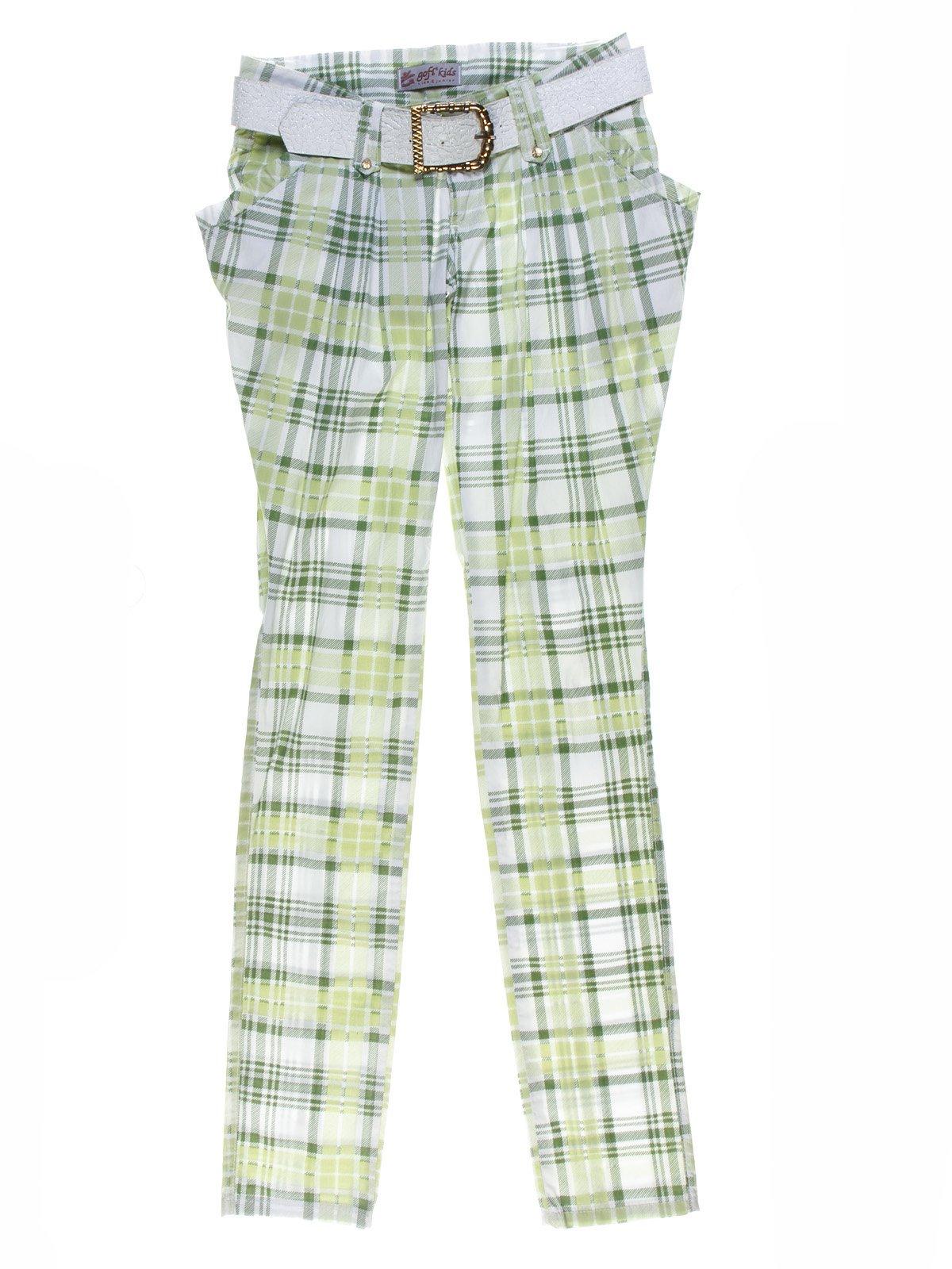 Штани зелено-білі у клітинку | 1076902