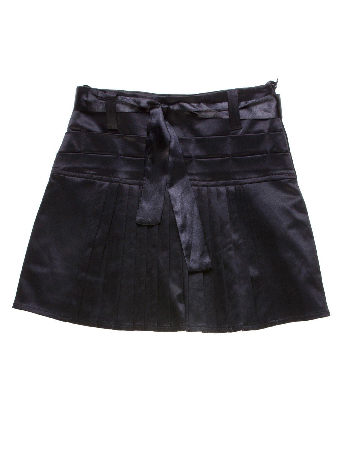 Юбка черная со складками-плиссе | 1236823