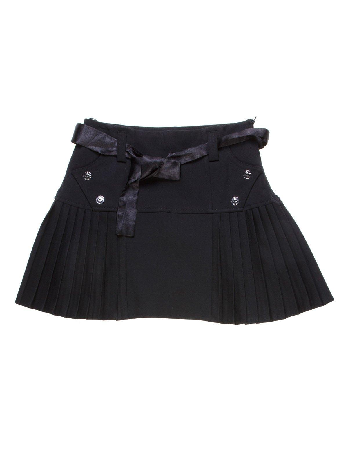 Юбка черная со складками-плиссе | 1236966