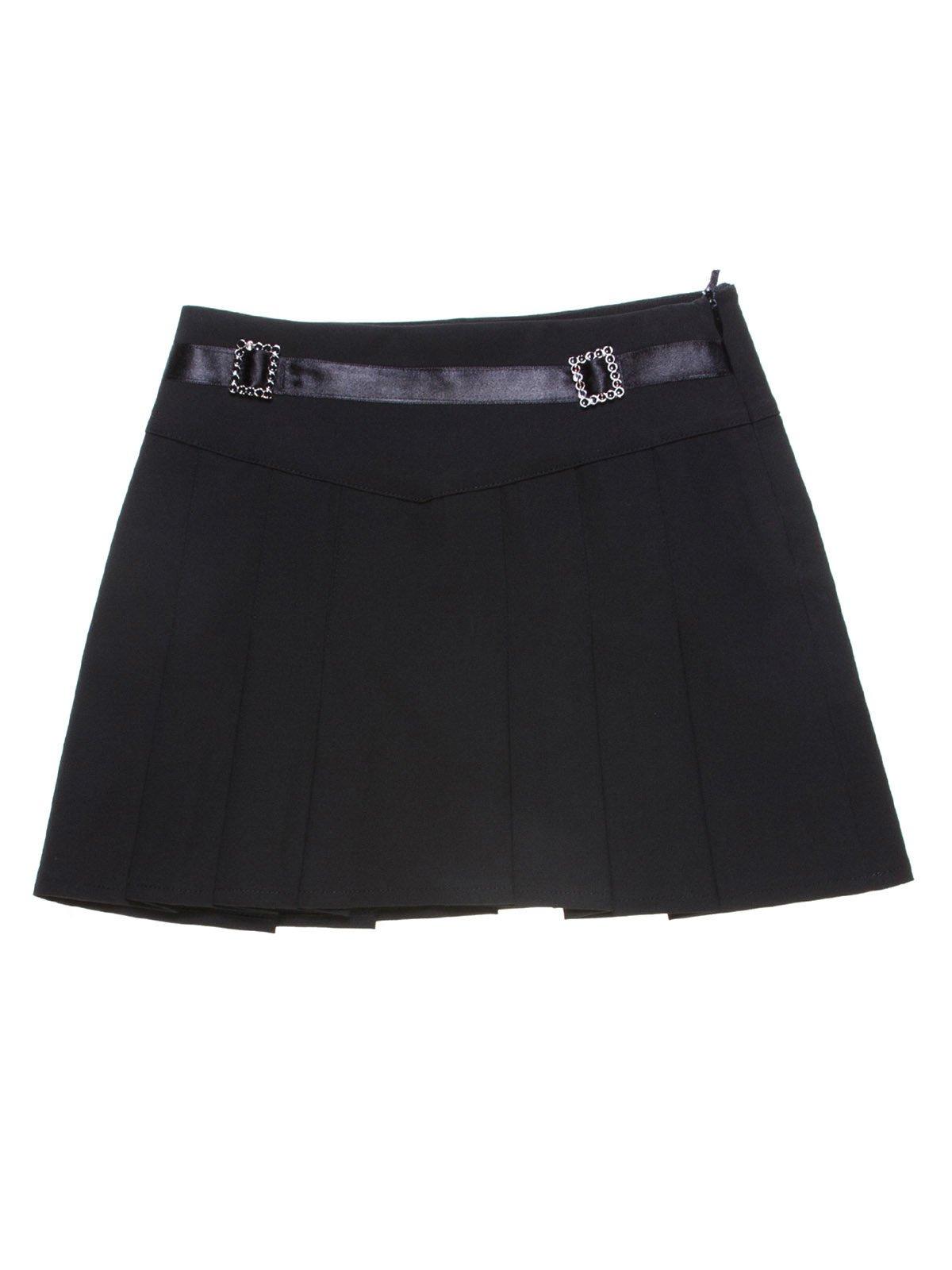 Юбка черная со складками | 1236955