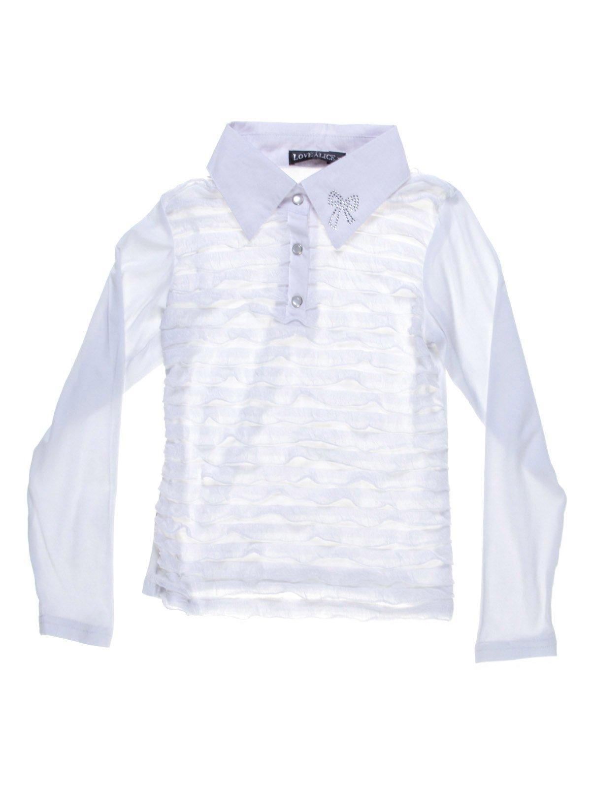 Блуза біла з декором | 1236753