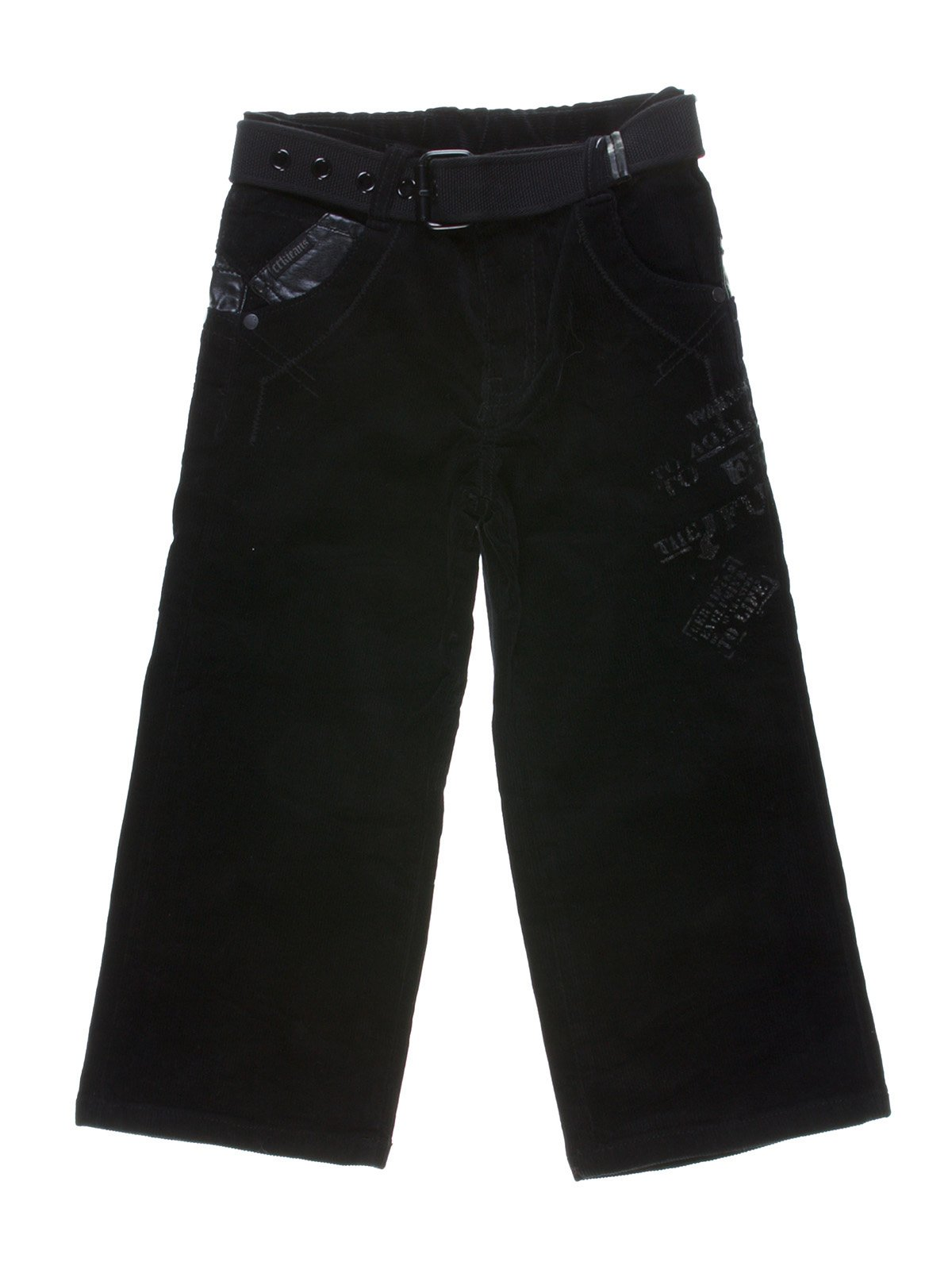 Штани чорні з написами | 1269850