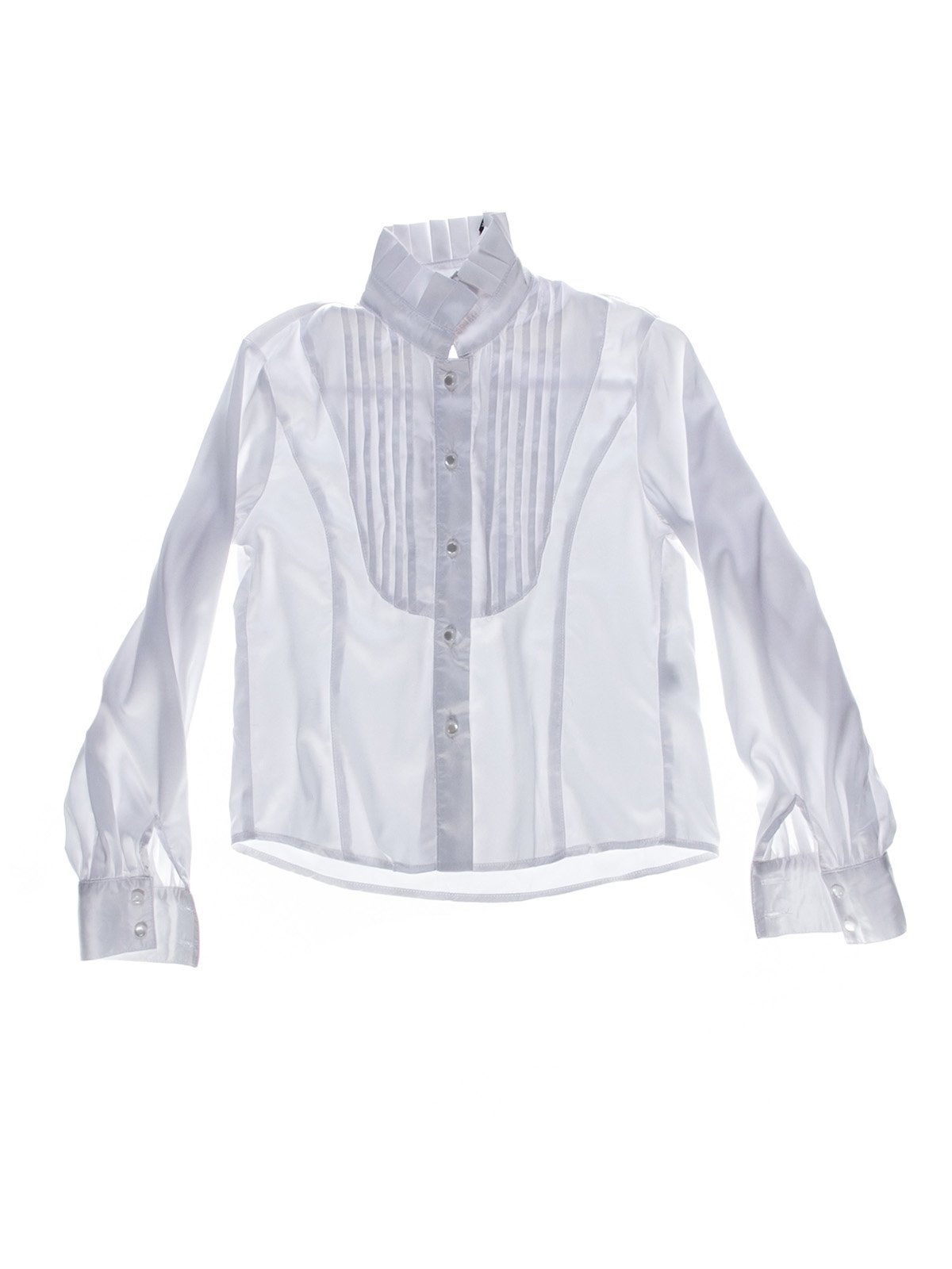 Сорочка біла зі складками | 1269958