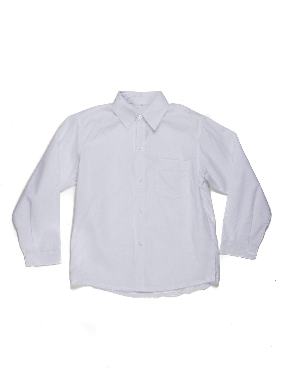 Рубашка белая с накладным карманом   449427