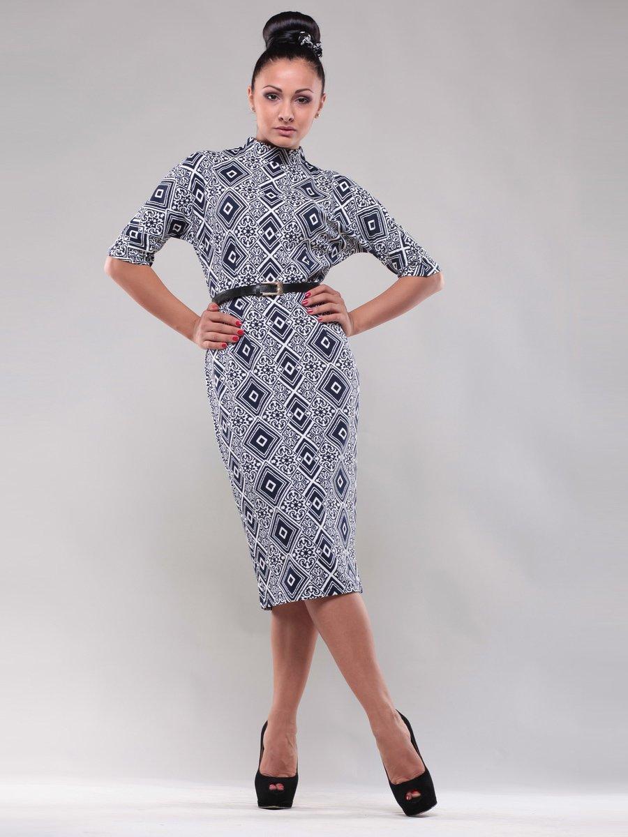 Платье черно-серое в ромбы   1312531