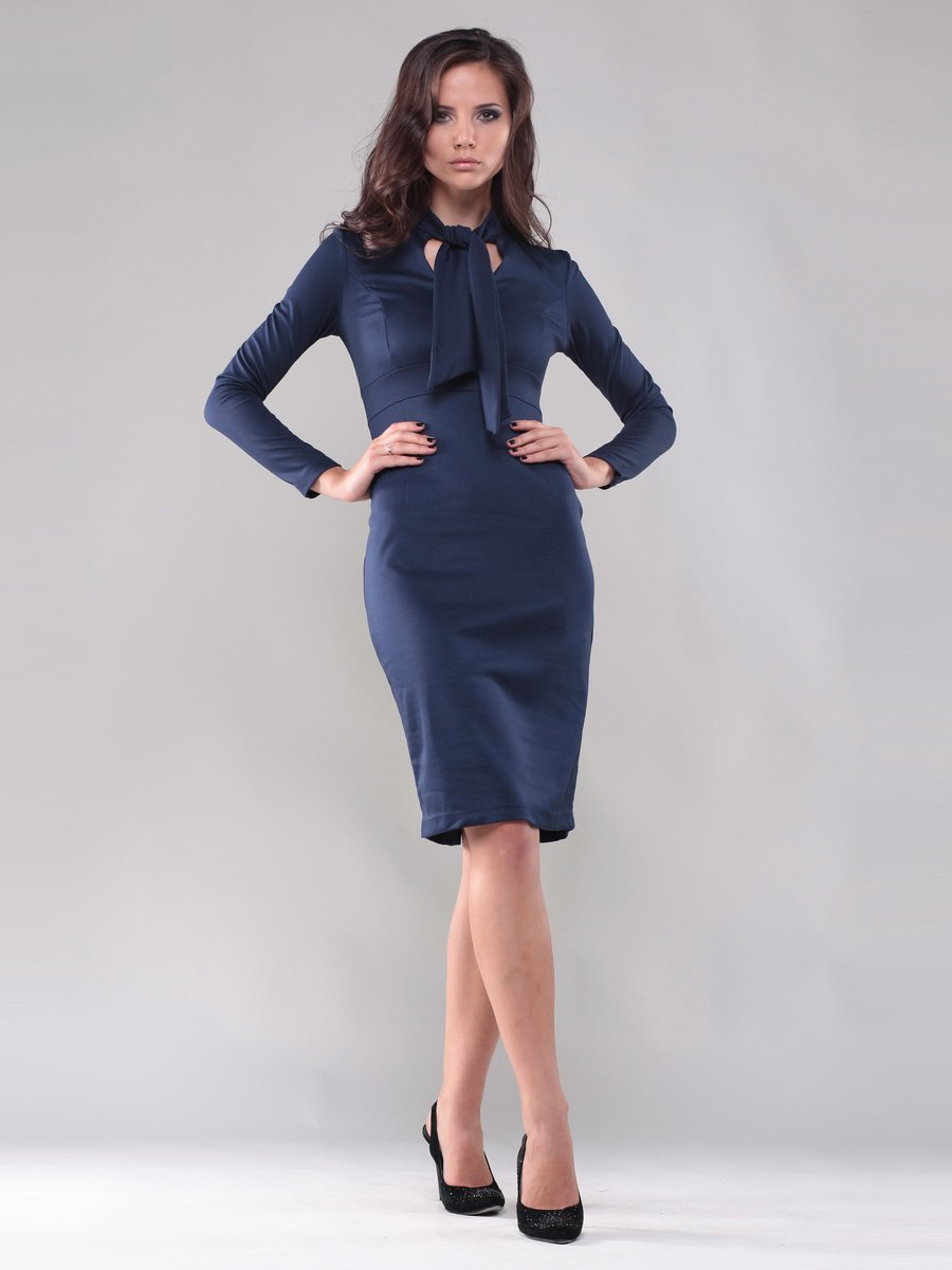 Платье темно-синее | 1324102