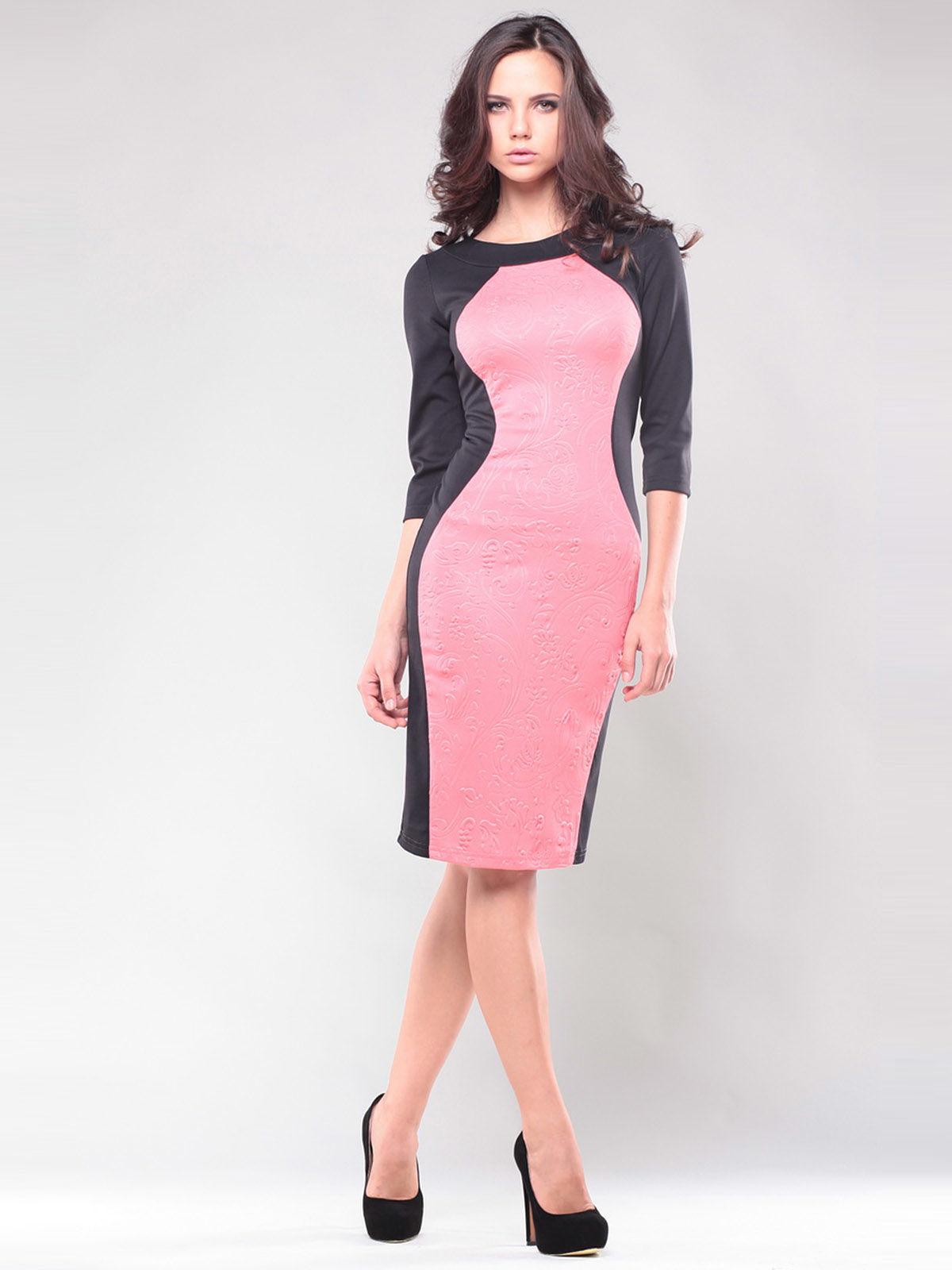 Платье черно-розовое | 1343833