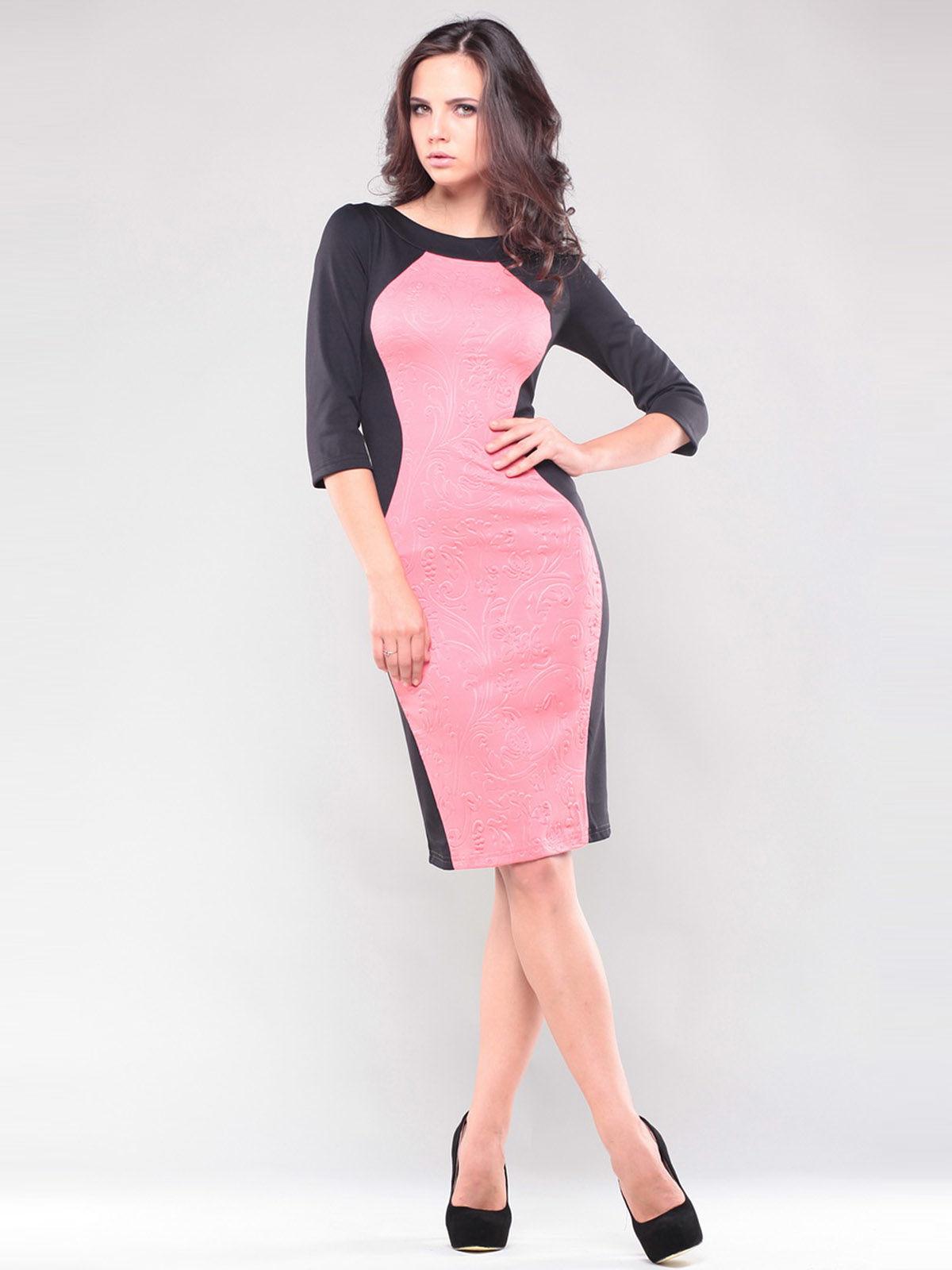 Платье черно-розовое | 1343833 | фото 2