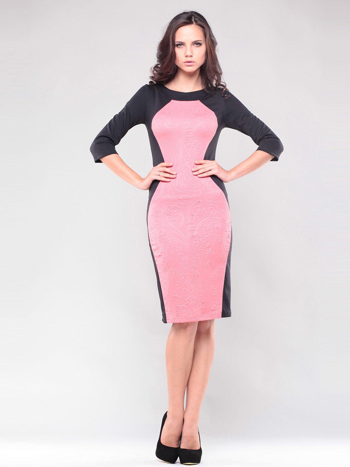 Платье черно-розовое | 1343833 | фото 3