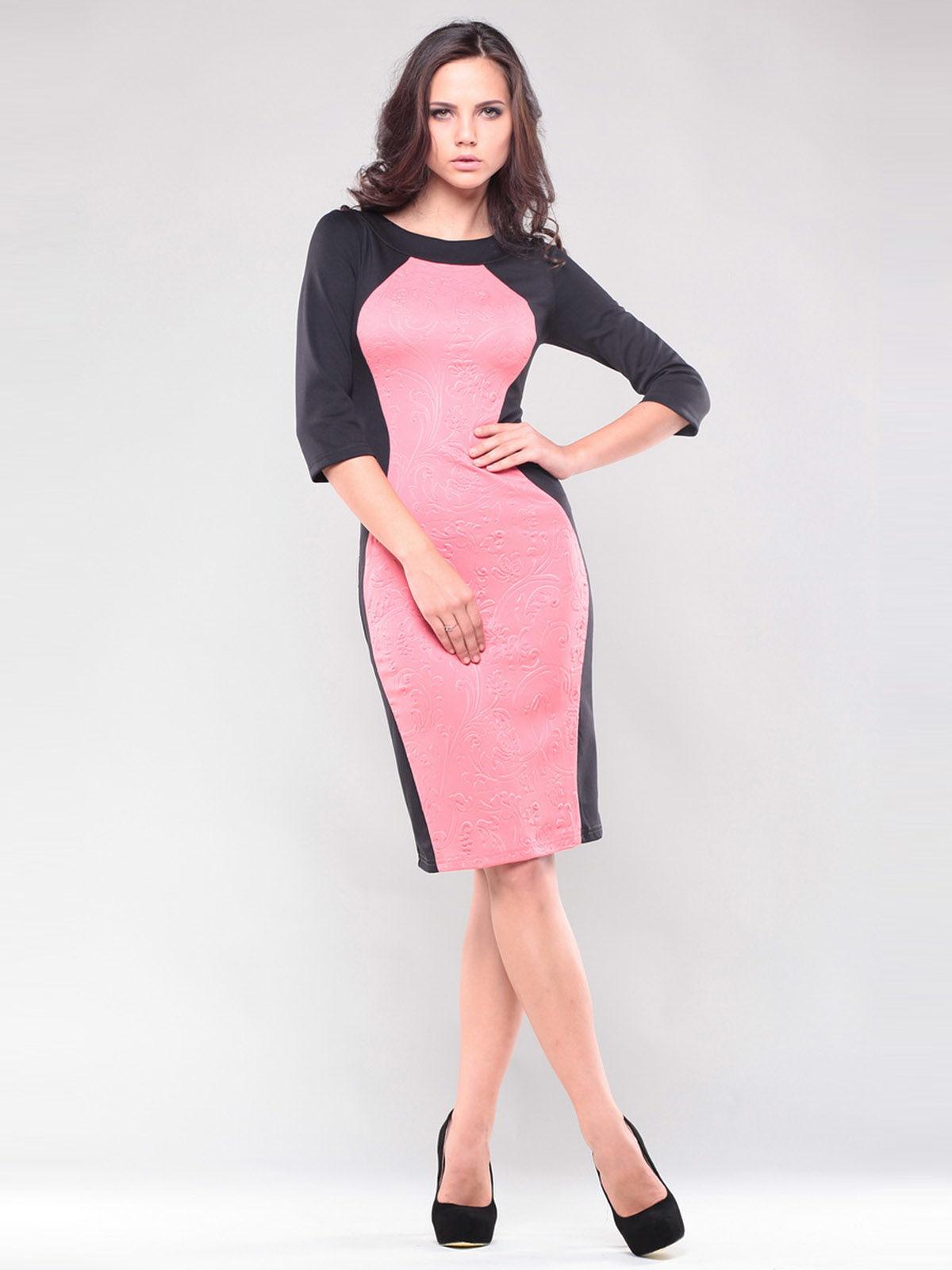 Платье черно-розовое | 1343833 | фото 4