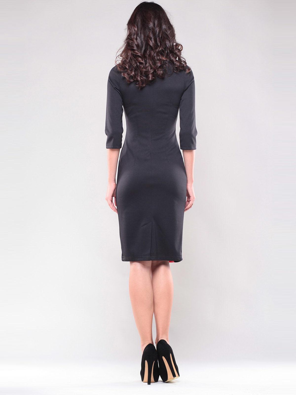 Платье черно-розовое | 1343833 | фото 5