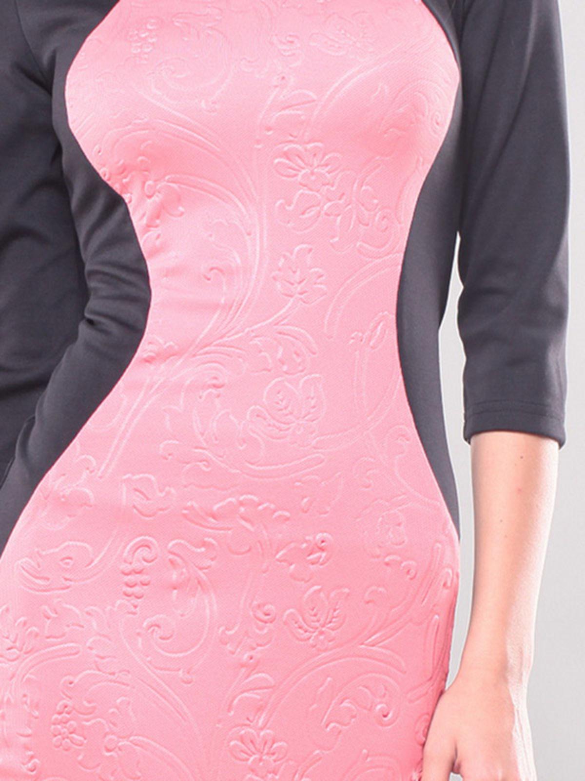 Платье черно-розовое | 1343833 | фото 6