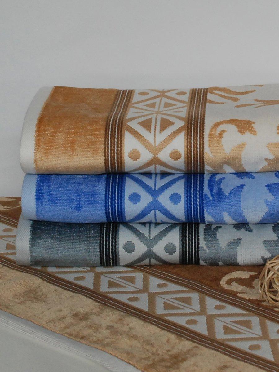 Полотенце махровое для бани бежевое (70х140 см) | 1316797