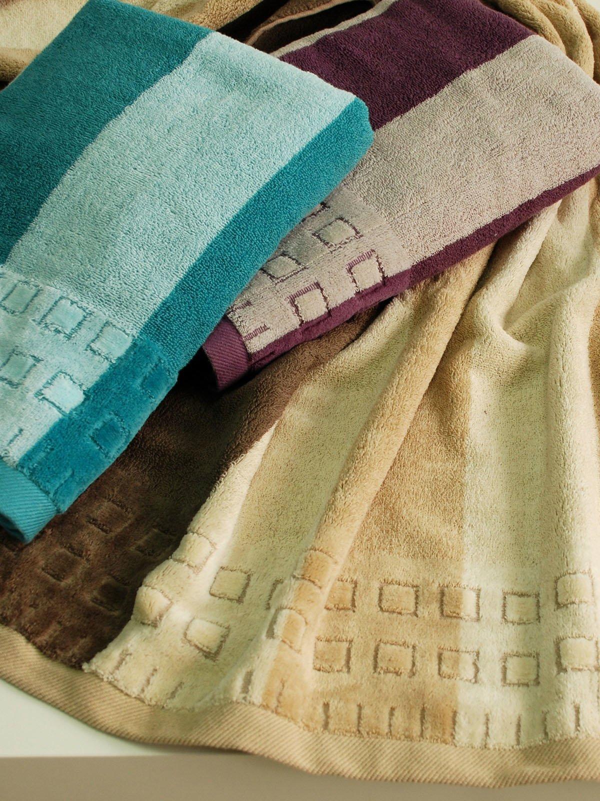 Полотенце махровое для лица голубое (50х90 см) | 1316823
