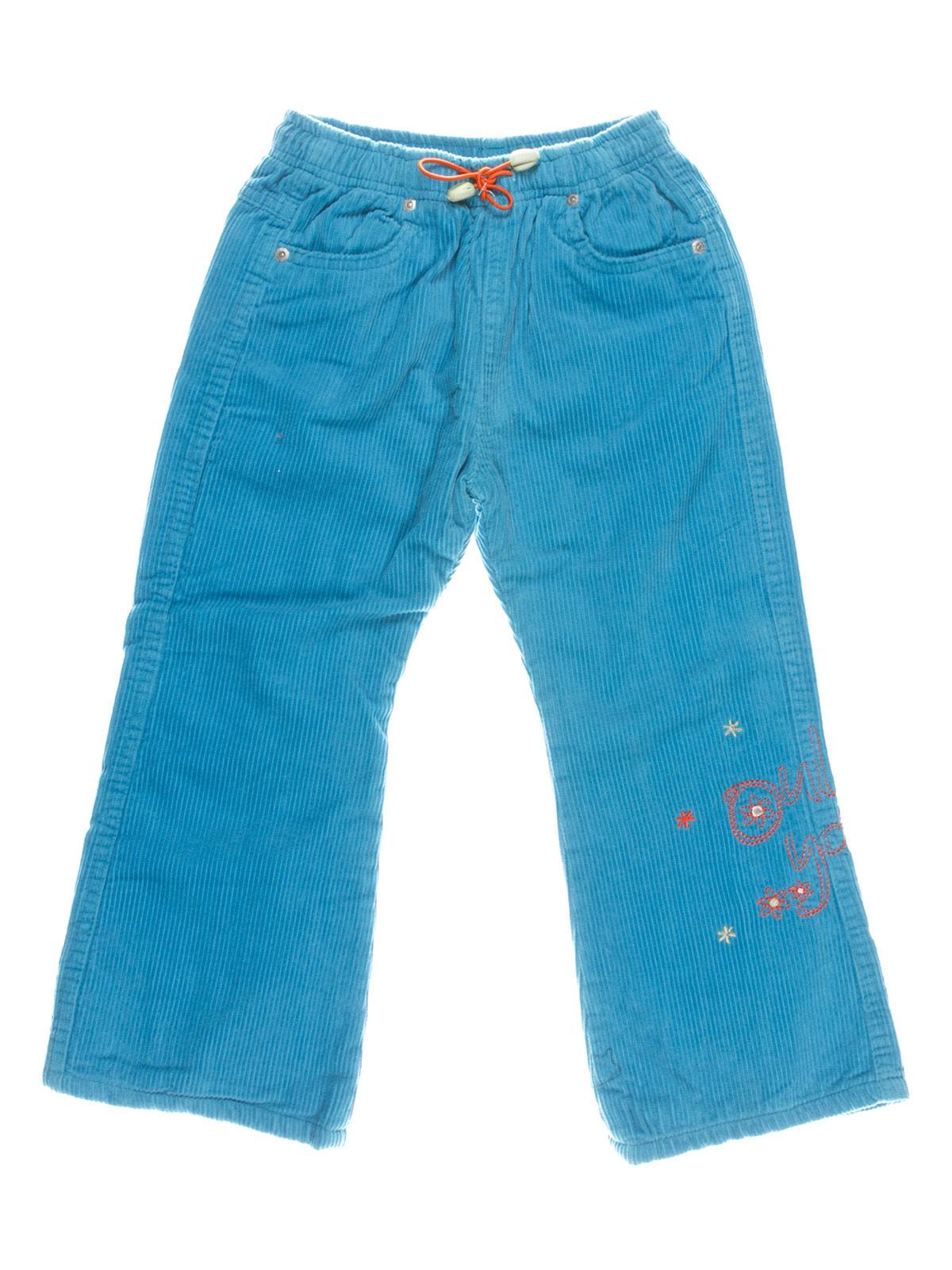 Брюки голубые с вышивкой | 1364783